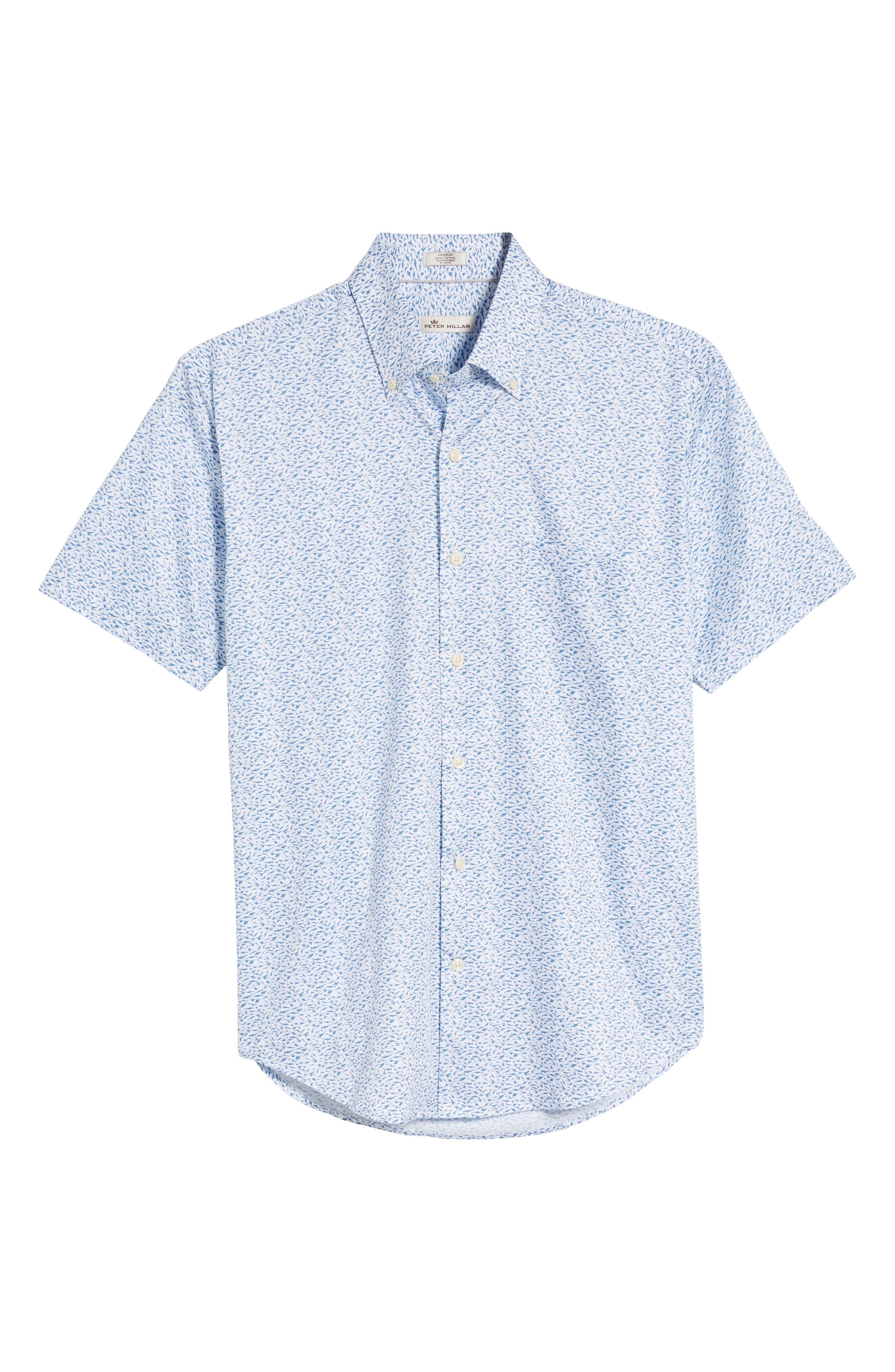 Hammer Time Regular Fit Print Sport Shirt,                             Alternate thumbnail 6, color,