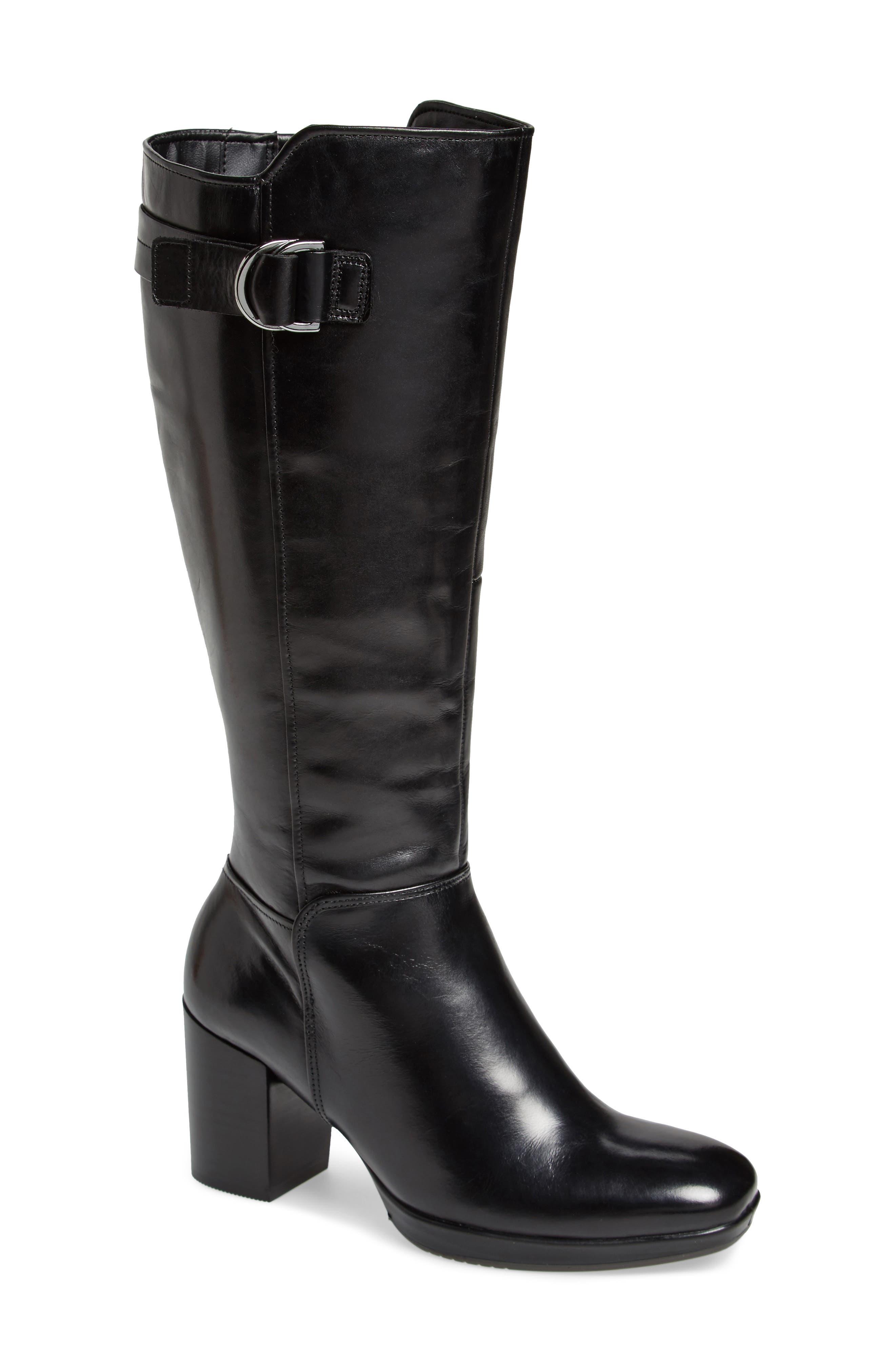 Shape 55 Chalet Boot,                             Main thumbnail 1, color,                             BLACK LEATHER
