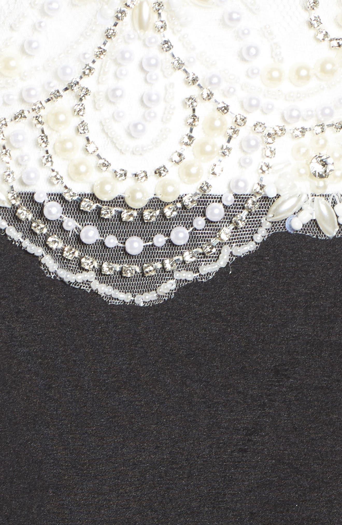 Embellished Lace & Taffeta Ballgown,                             Alternate thumbnail 5, color,