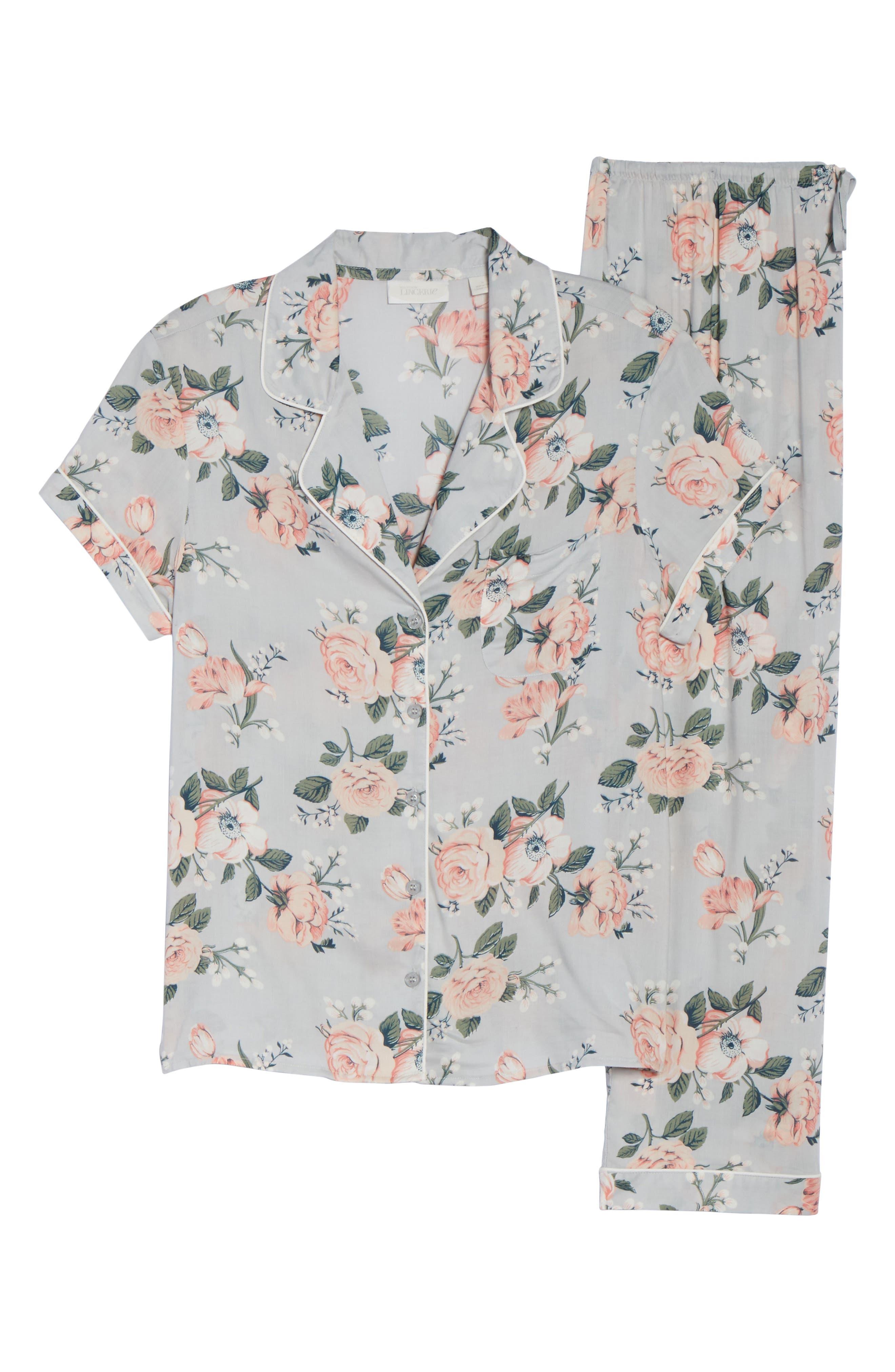 'Sweet Dreams' Print Pajamas,                             Alternate thumbnail 6, color,                             030