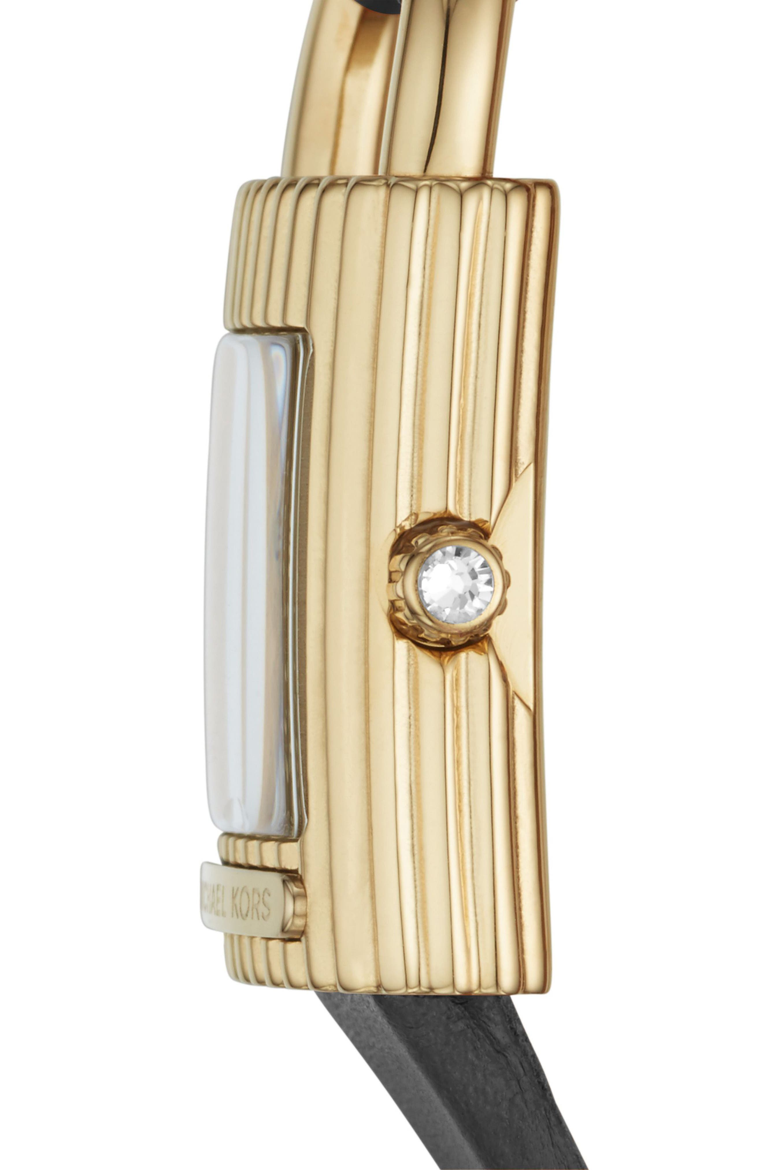 Isadore Leather Strap Watch, 22mm,                             Alternate thumbnail 2, color,                             001