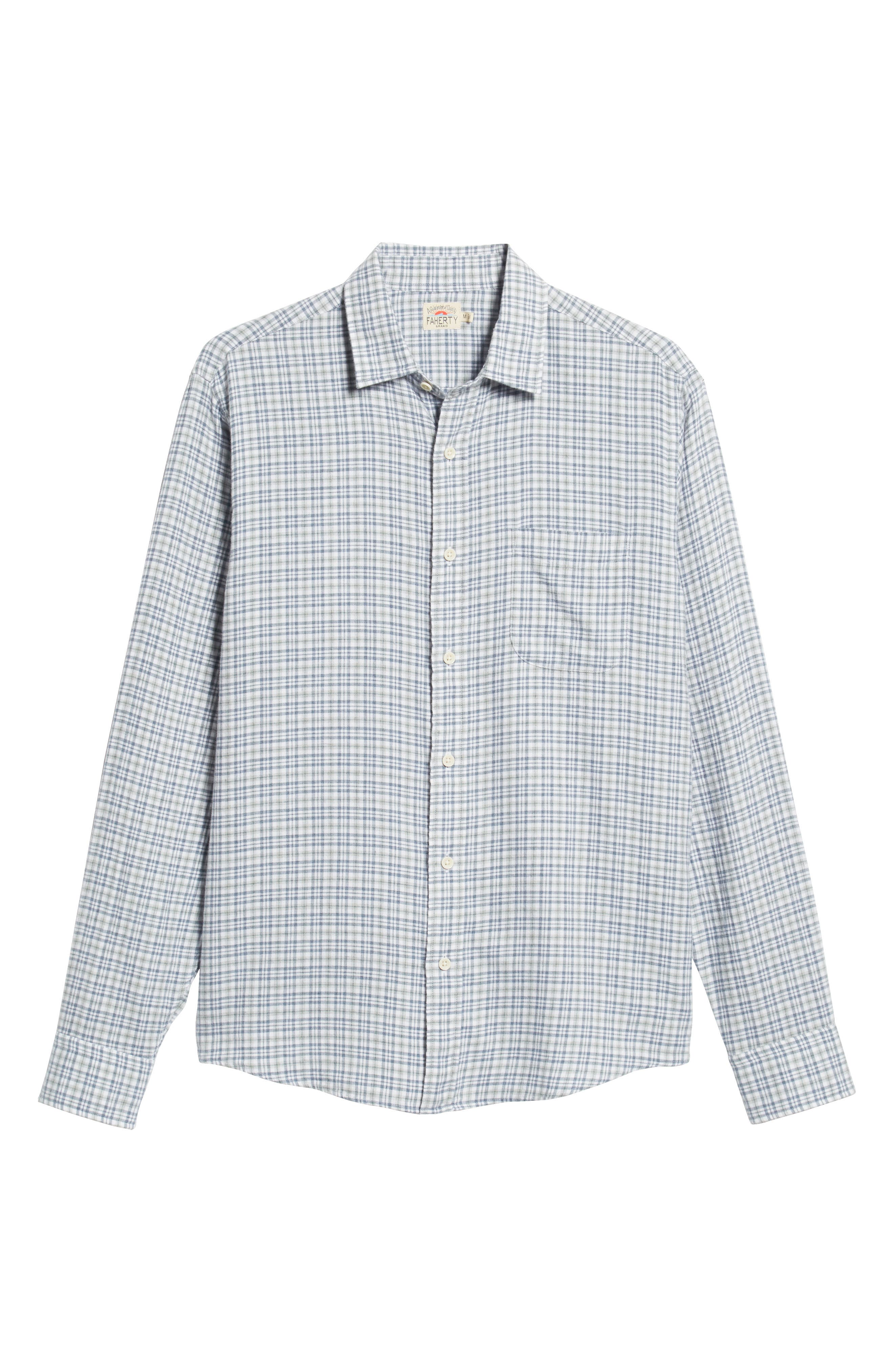 Ventura Regular Fit Plaid Sport Shirt,                             Alternate thumbnail 5, color,                             HEATHER GREY MULTI