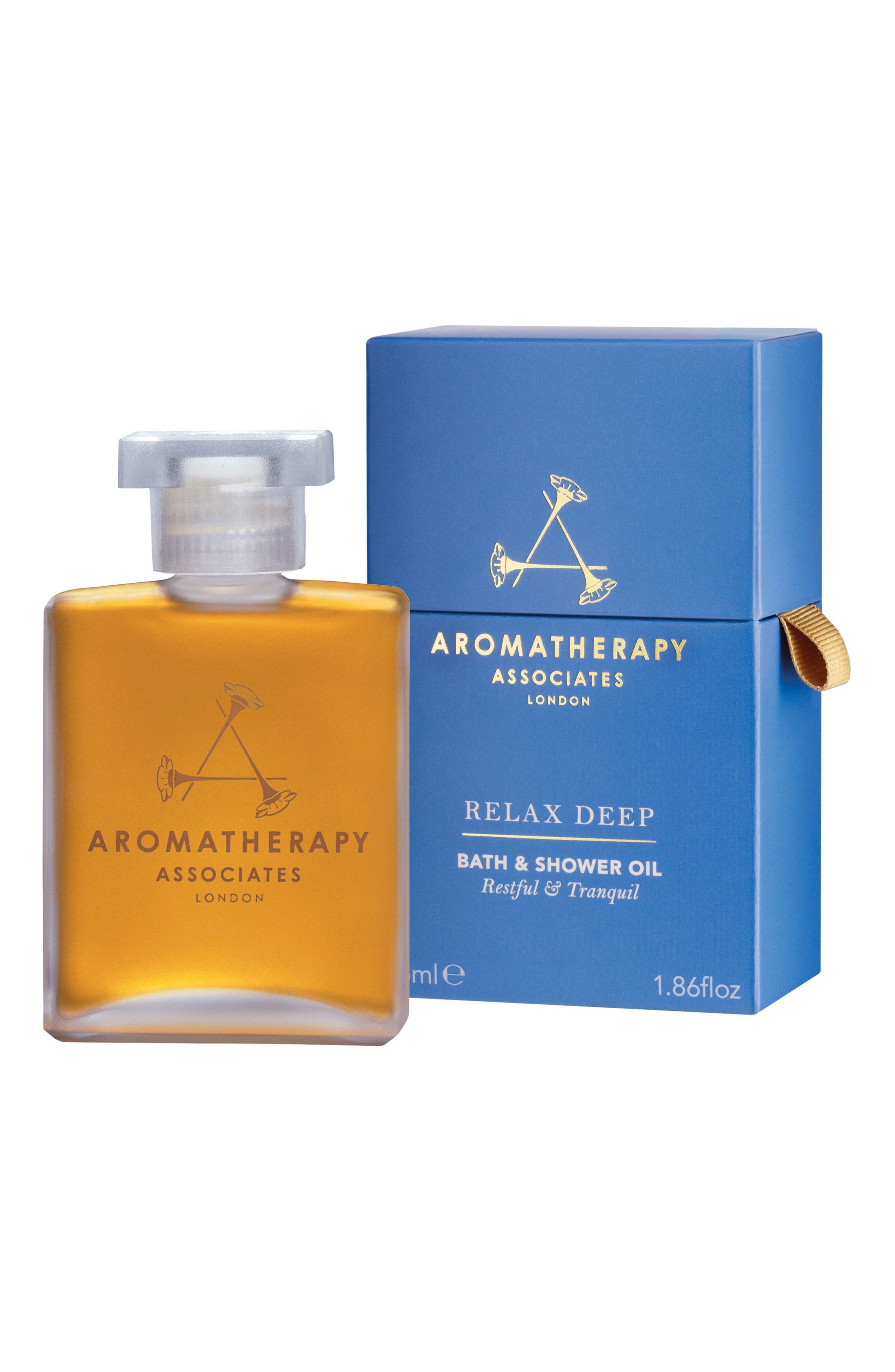 Deep Relax Bath & Shower Oil,                             Main thumbnail 1, color,                             RELAX DEEP