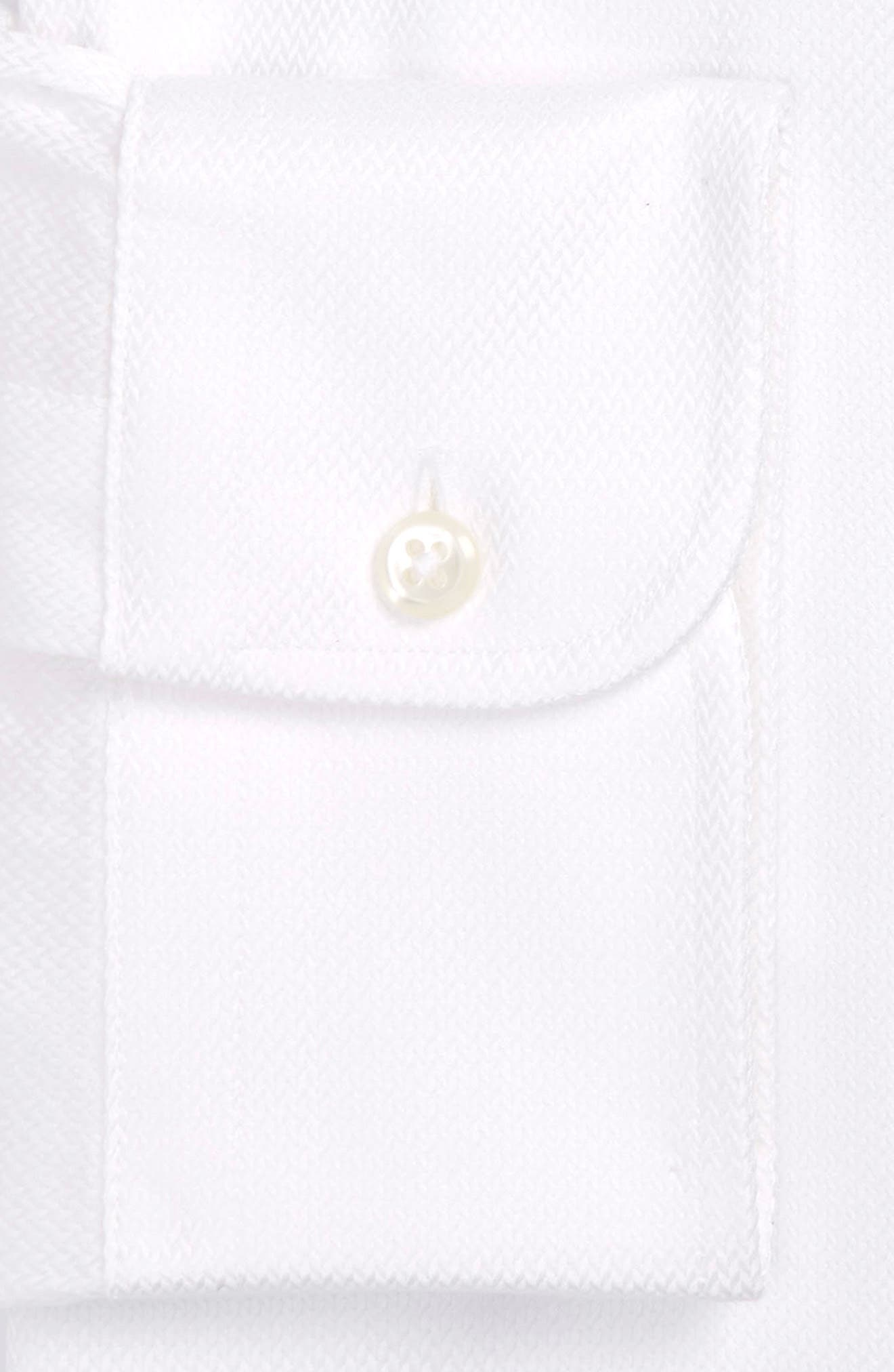 Classic Fit Textured Dress Shirt,                             Alternate thumbnail 3, color,                             WHITE