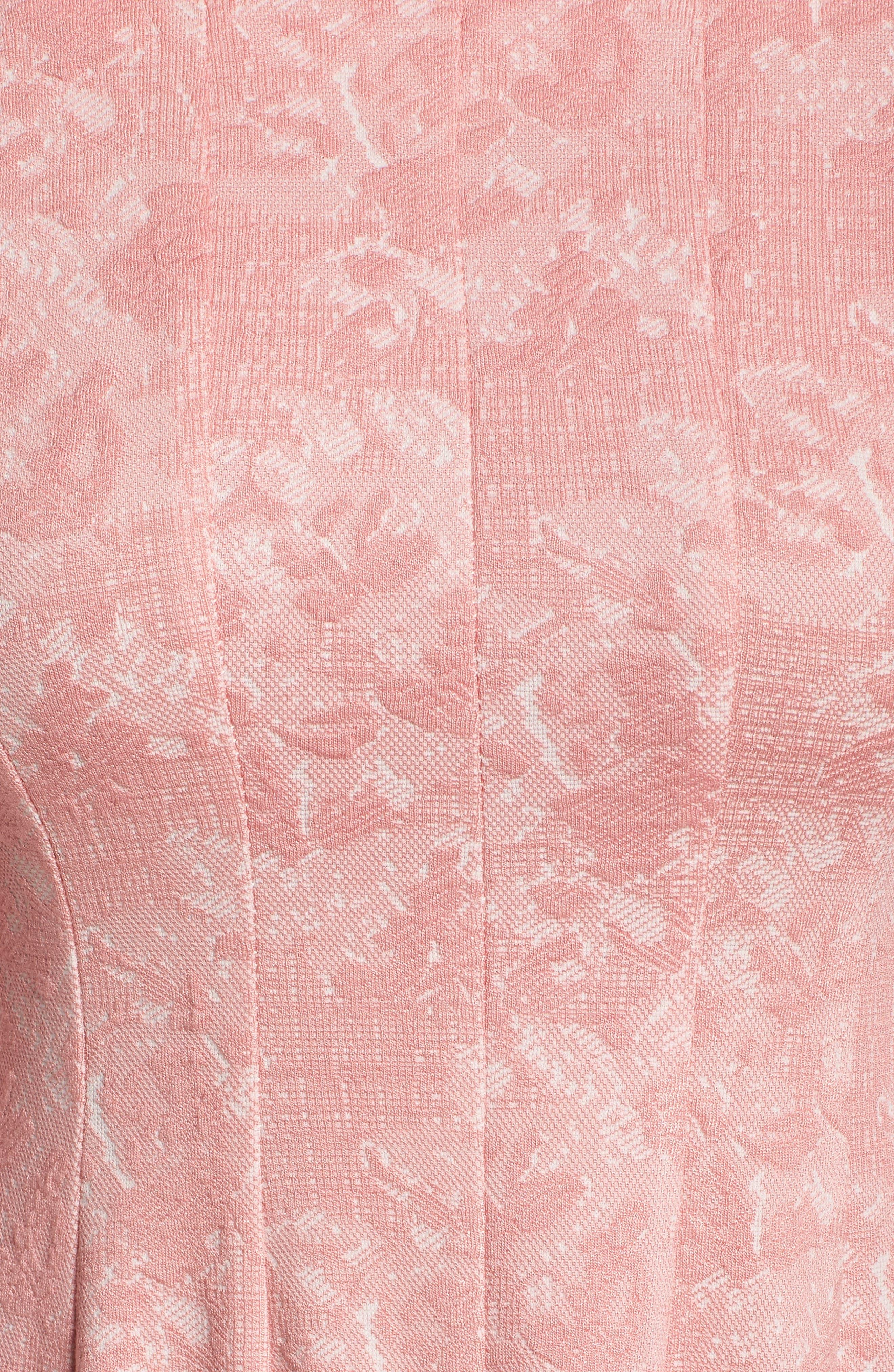 Jacquard Knit Fit & Flare Dress,                             Alternate thumbnail 5, color,                             651