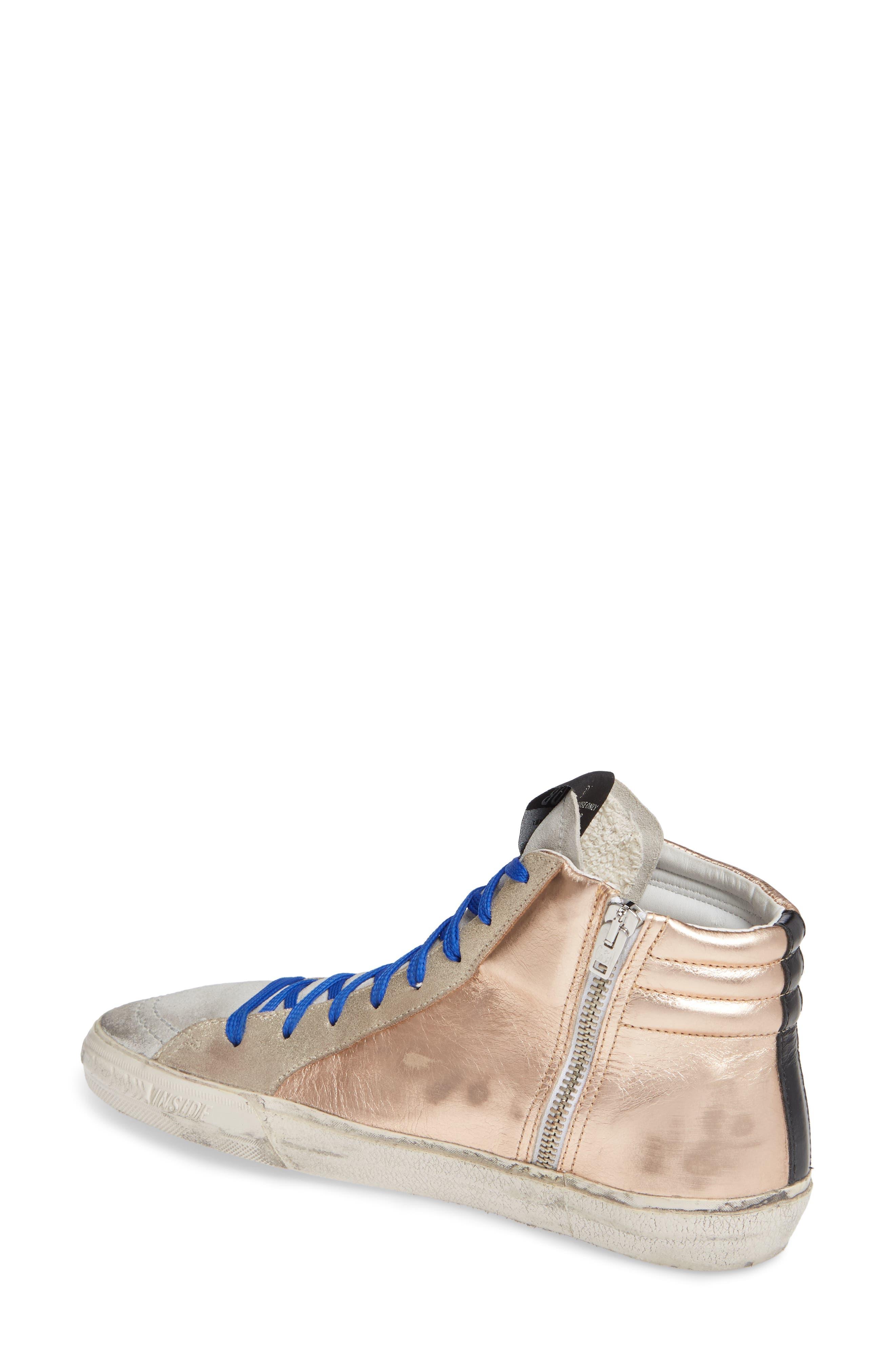 High Top Sneaker,                             Alternate thumbnail 2, color,                             ROSE GOLD/ GREY