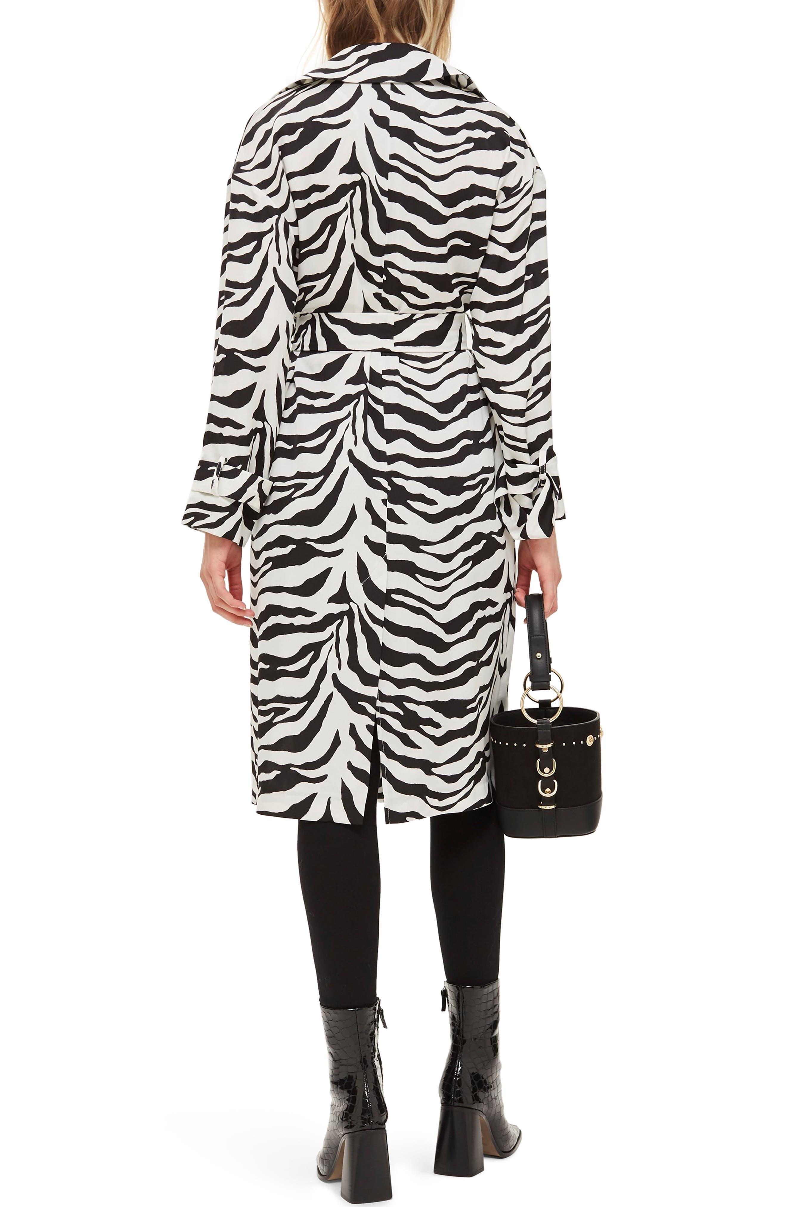 Zebra Print Duster Jacket,                             Alternate thumbnail 2, color,                             100