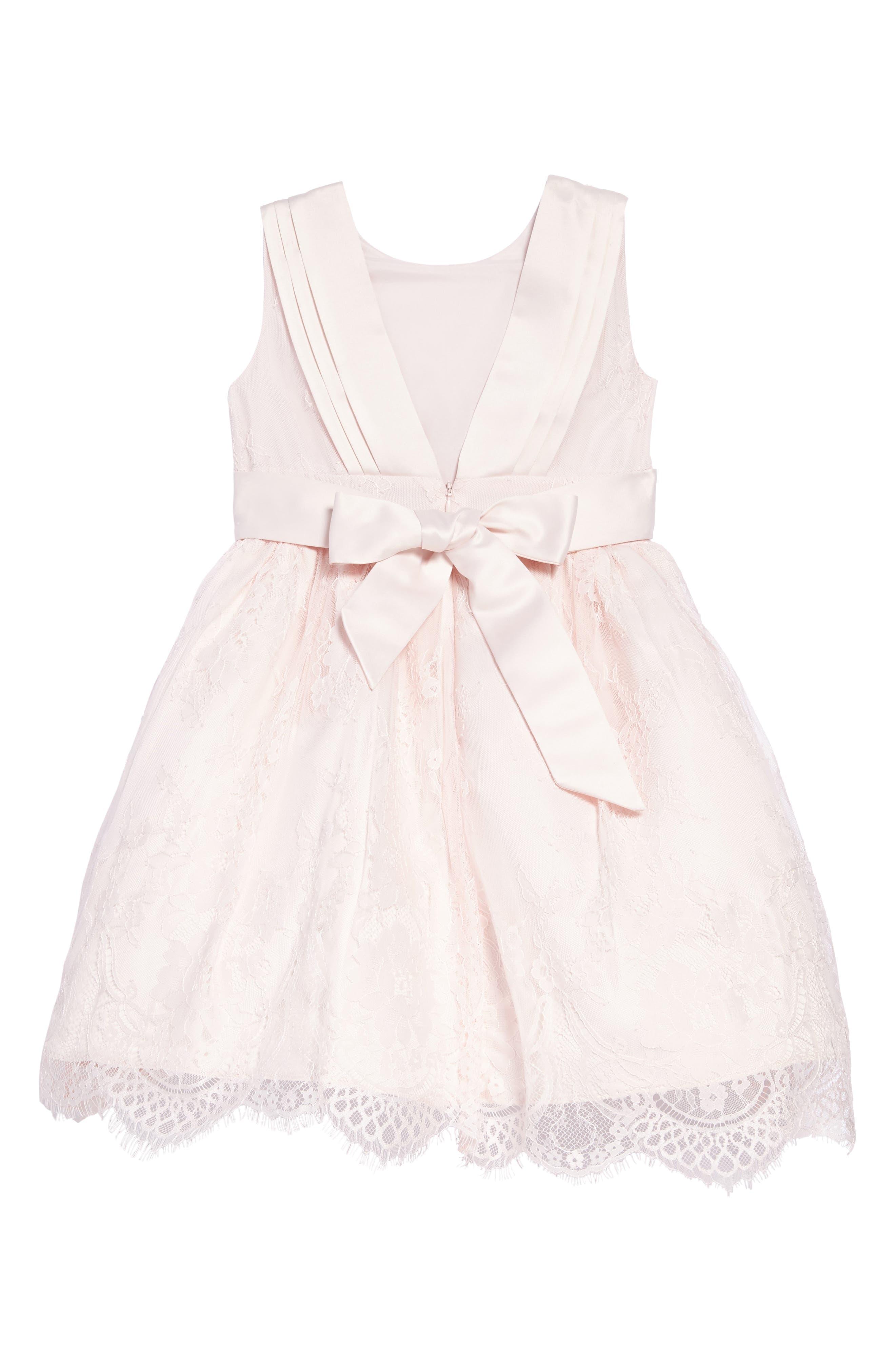 The Randi Floral Lace Dress,                             Alternate thumbnail 2, color,                             BLUSH