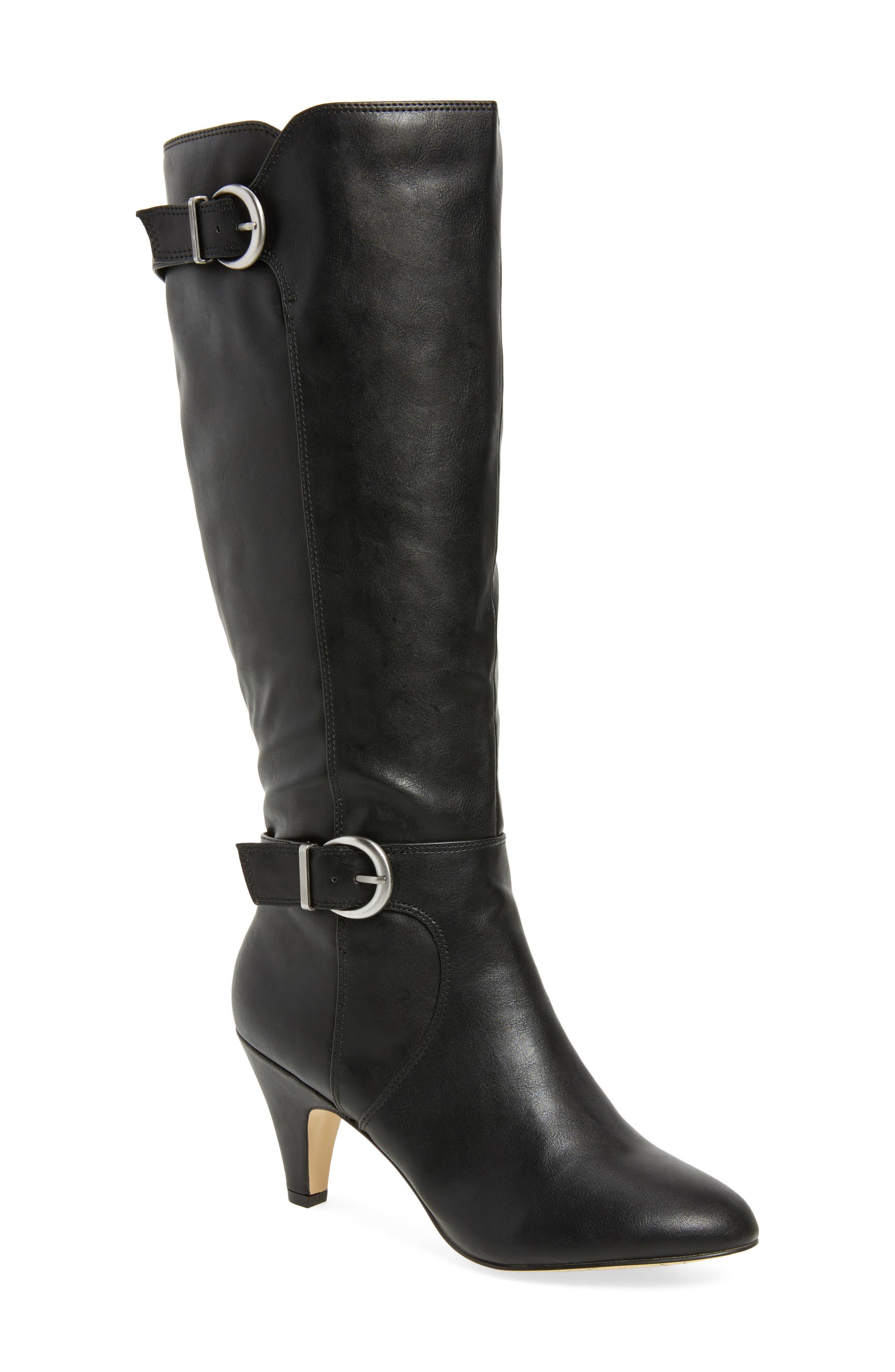 Toni II Knee High Boot,                             Main thumbnail 1, color,                             BLACK
