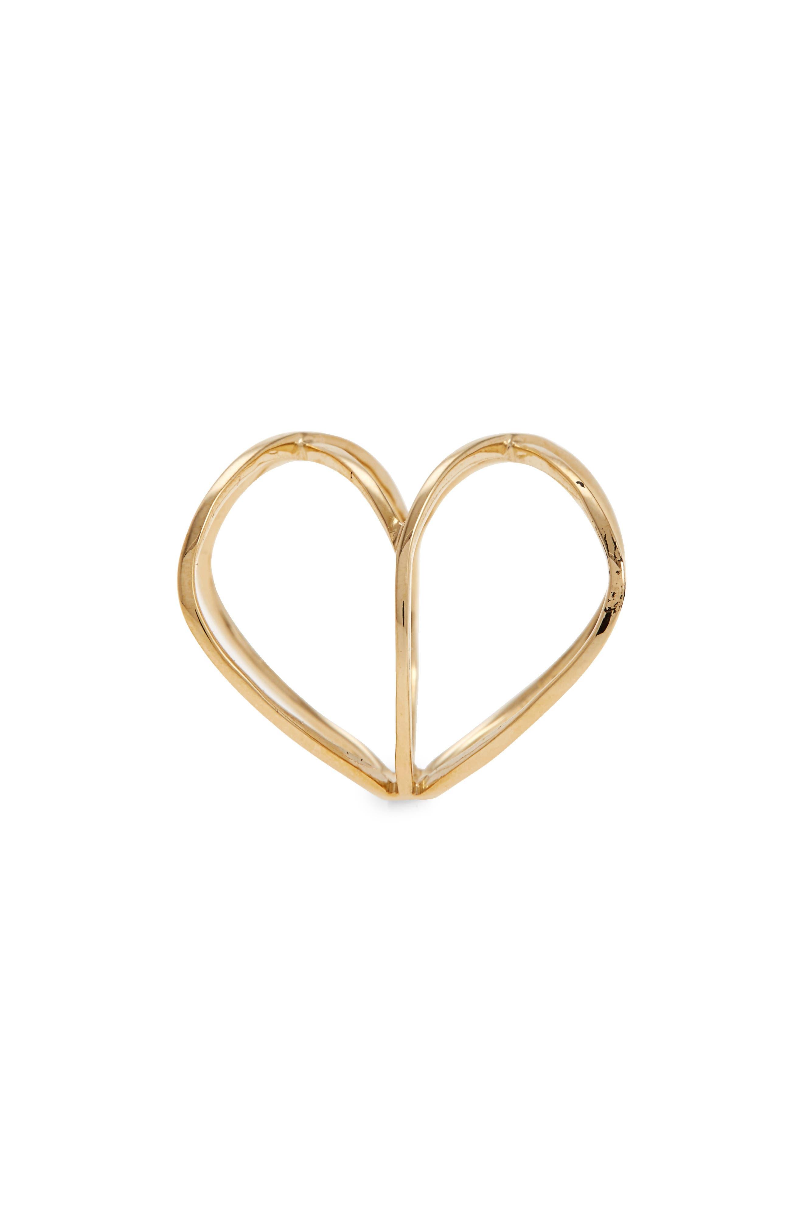 14KT Double Crisscross Ring,                             Alternate thumbnail 3, color,                             YELLOW GOLD