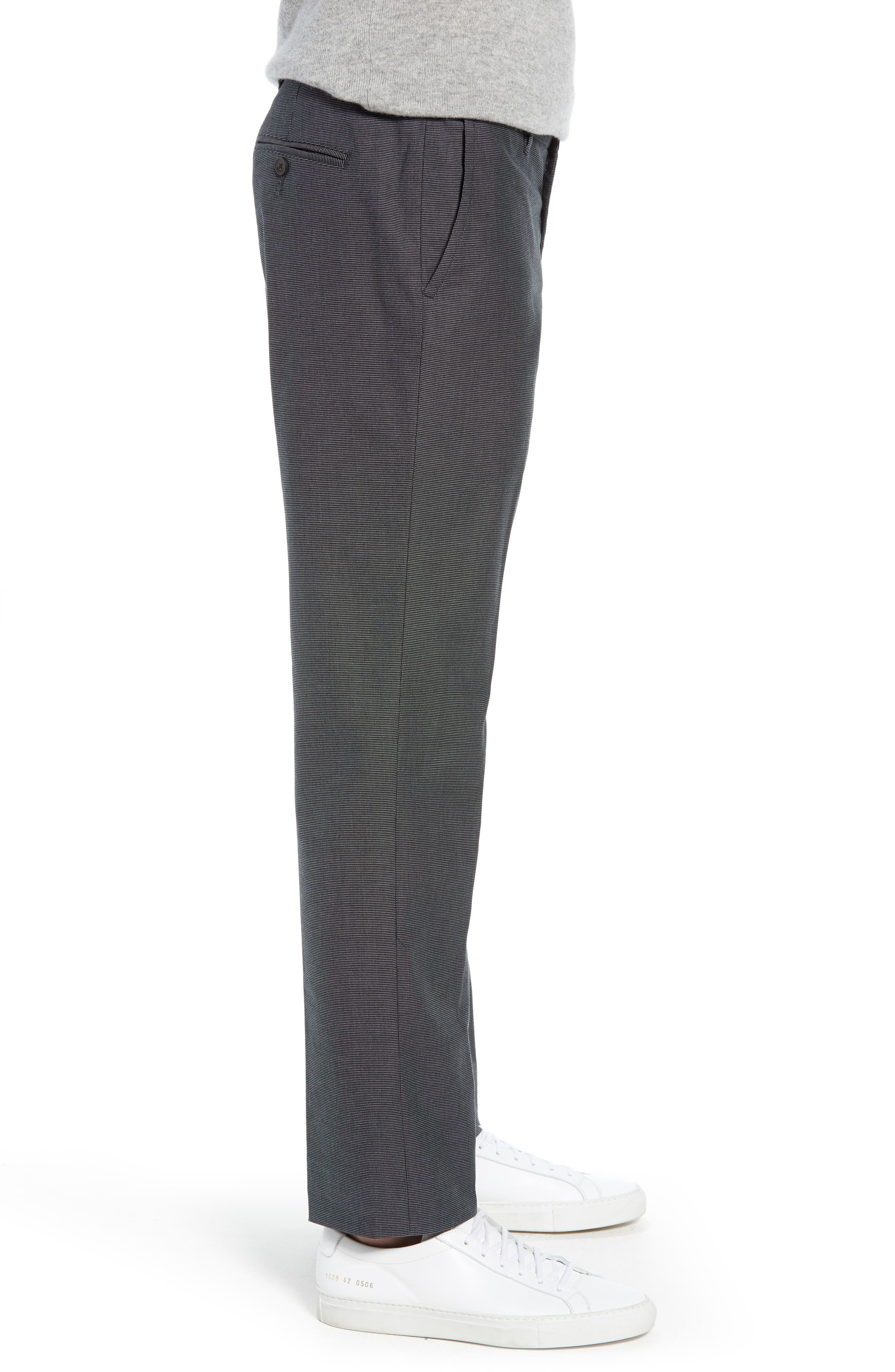 Weekday Warrior Straight Leg Stretch Dress Pants,                             Alternate thumbnail 3, color,                             TUESDAY CHARCOAL