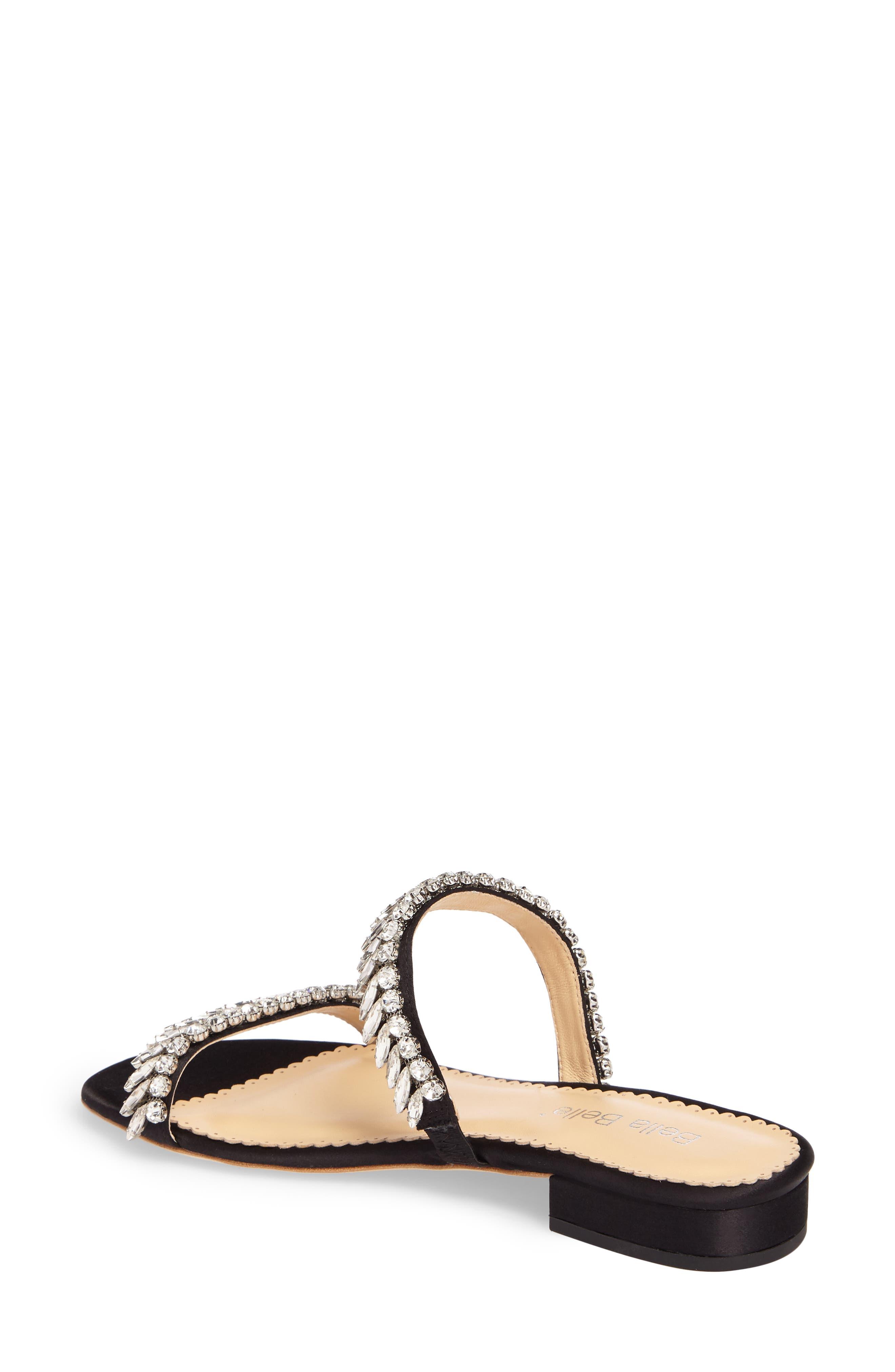 Bree Jeweled Evening Sandal,                             Alternate thumbnail 2, color,                             BLACK