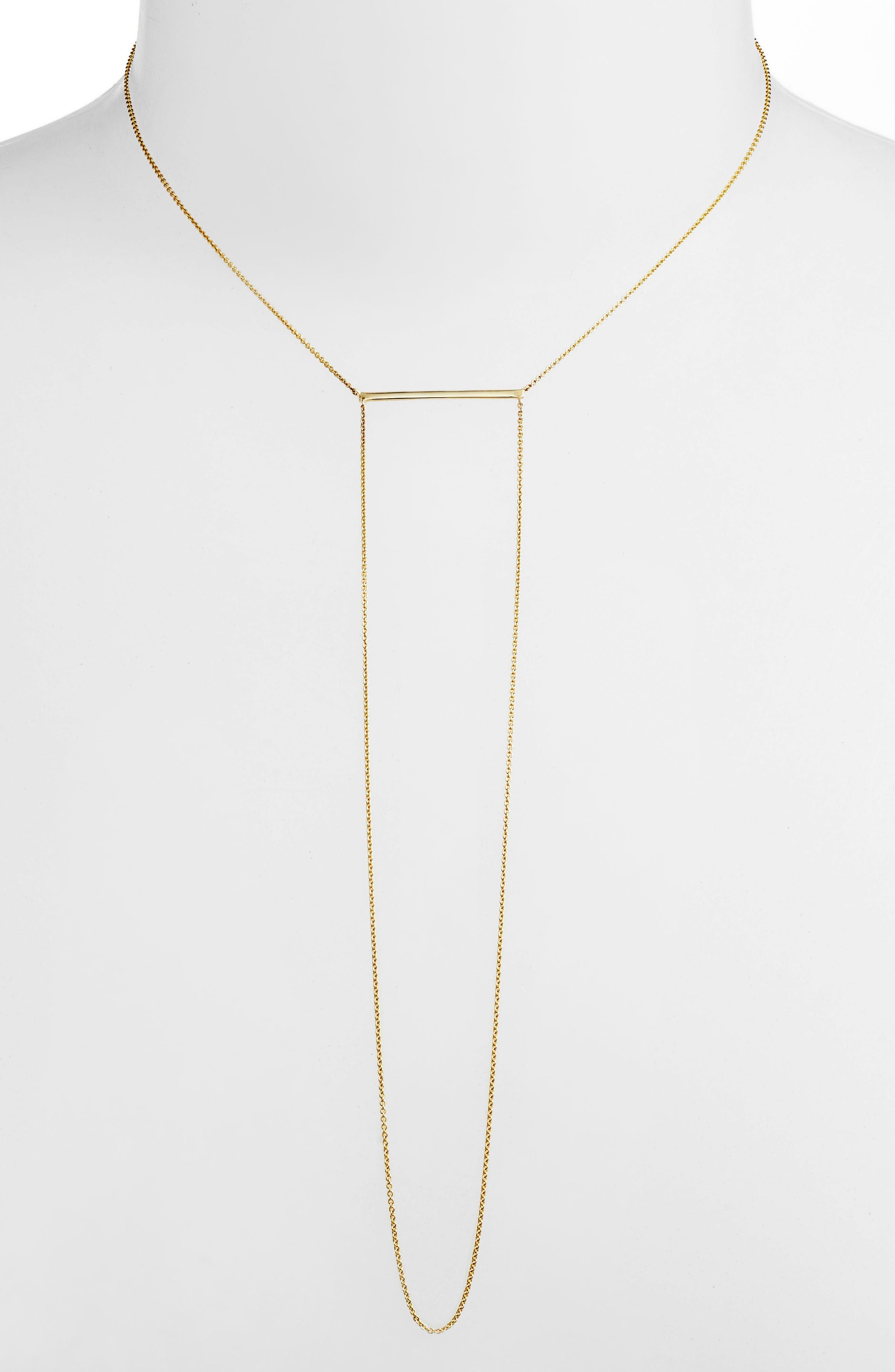 Drama Bar Pendant Necklace,                             Alternate thumbnail 2, color,                             YELLOW GOLD