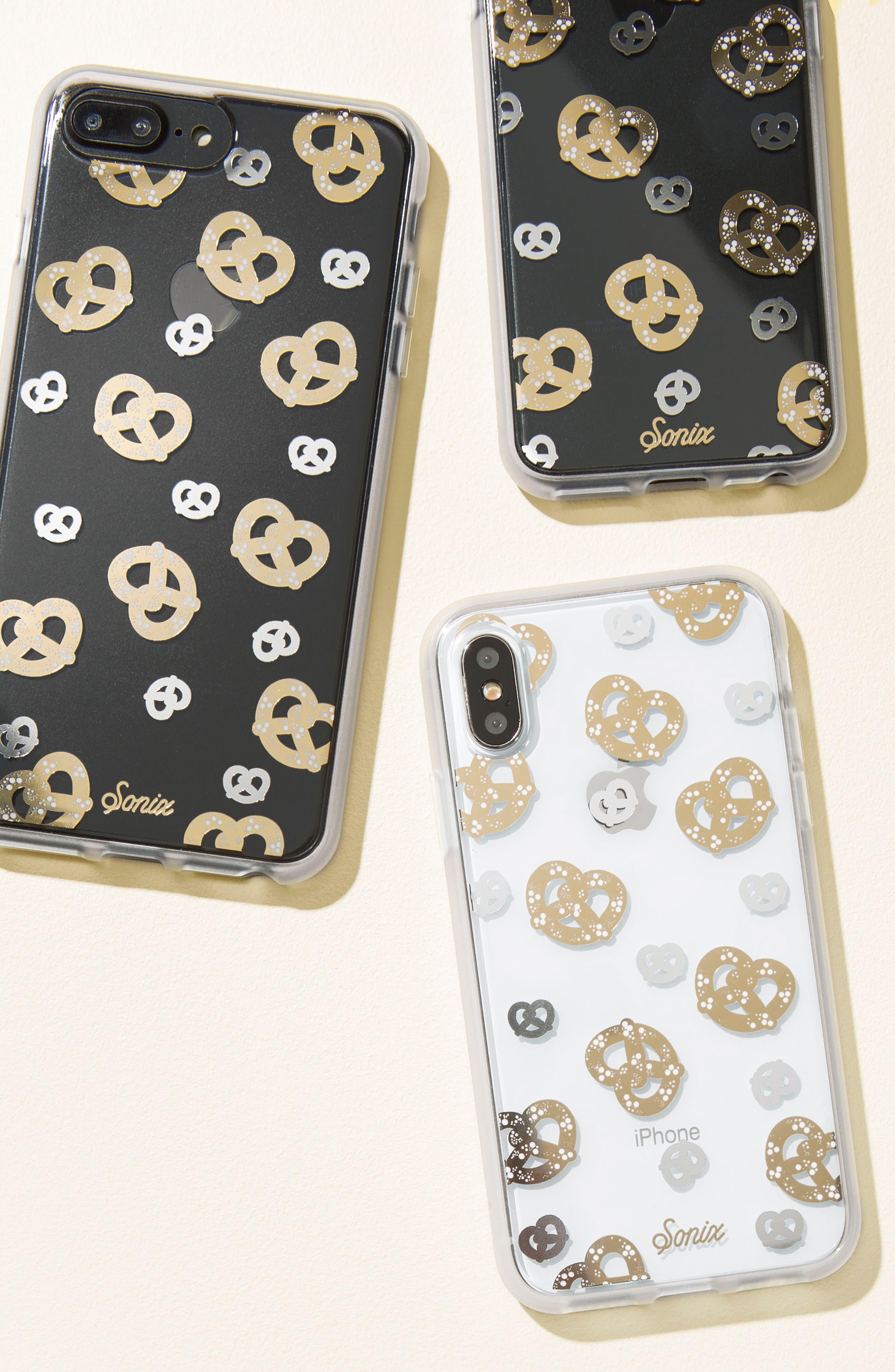 Pretzel iPhone 6/6s/7/8 & 6/6s/7/8 Plus Case,                             Alternate thumbnail 3, color,                             GOLD/ SILVER