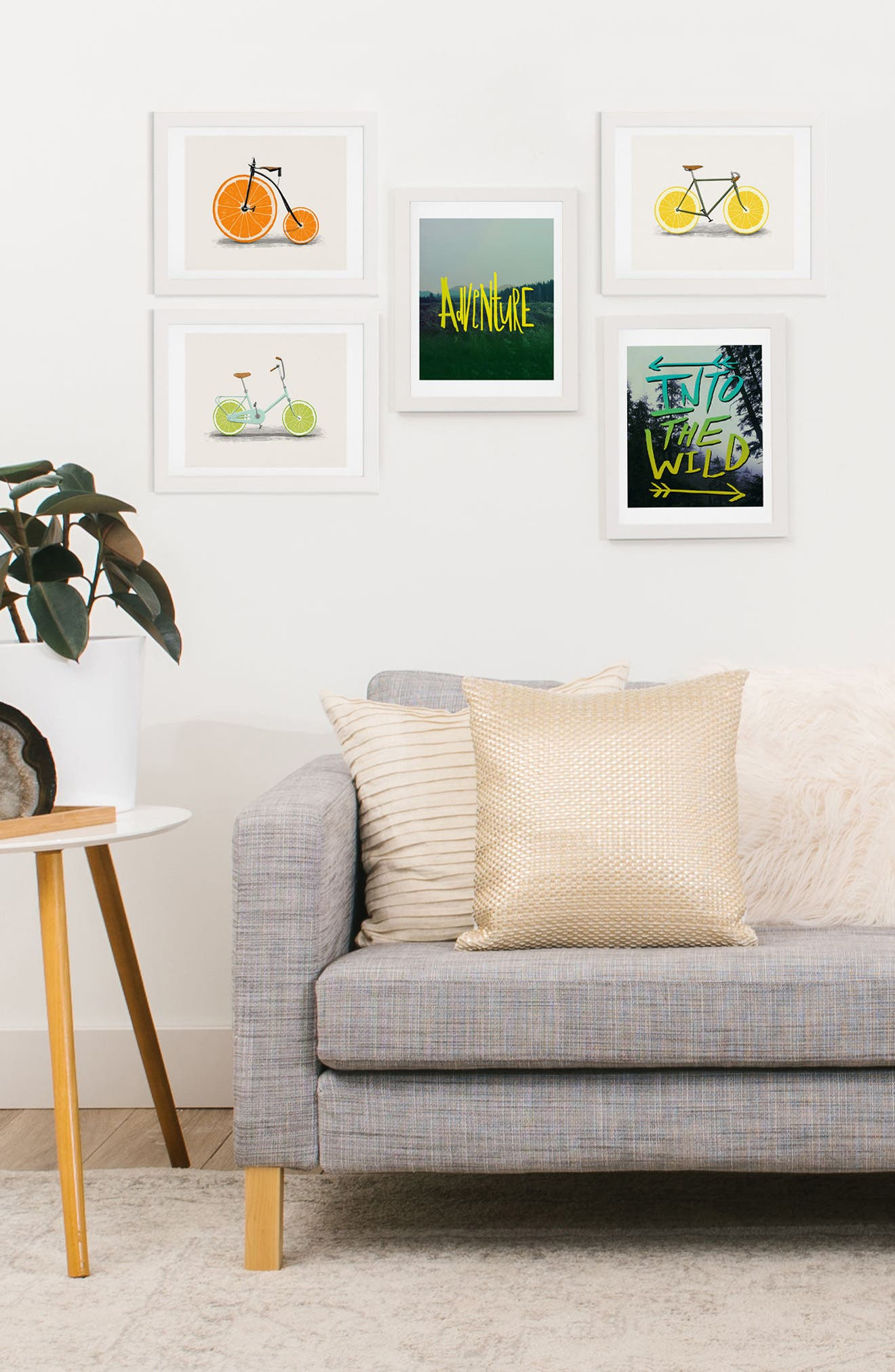 Adventure Five-Piece Gallery Art Print Set,                             Alternate thumbnail 2, color,                             YELLOW AND LIME