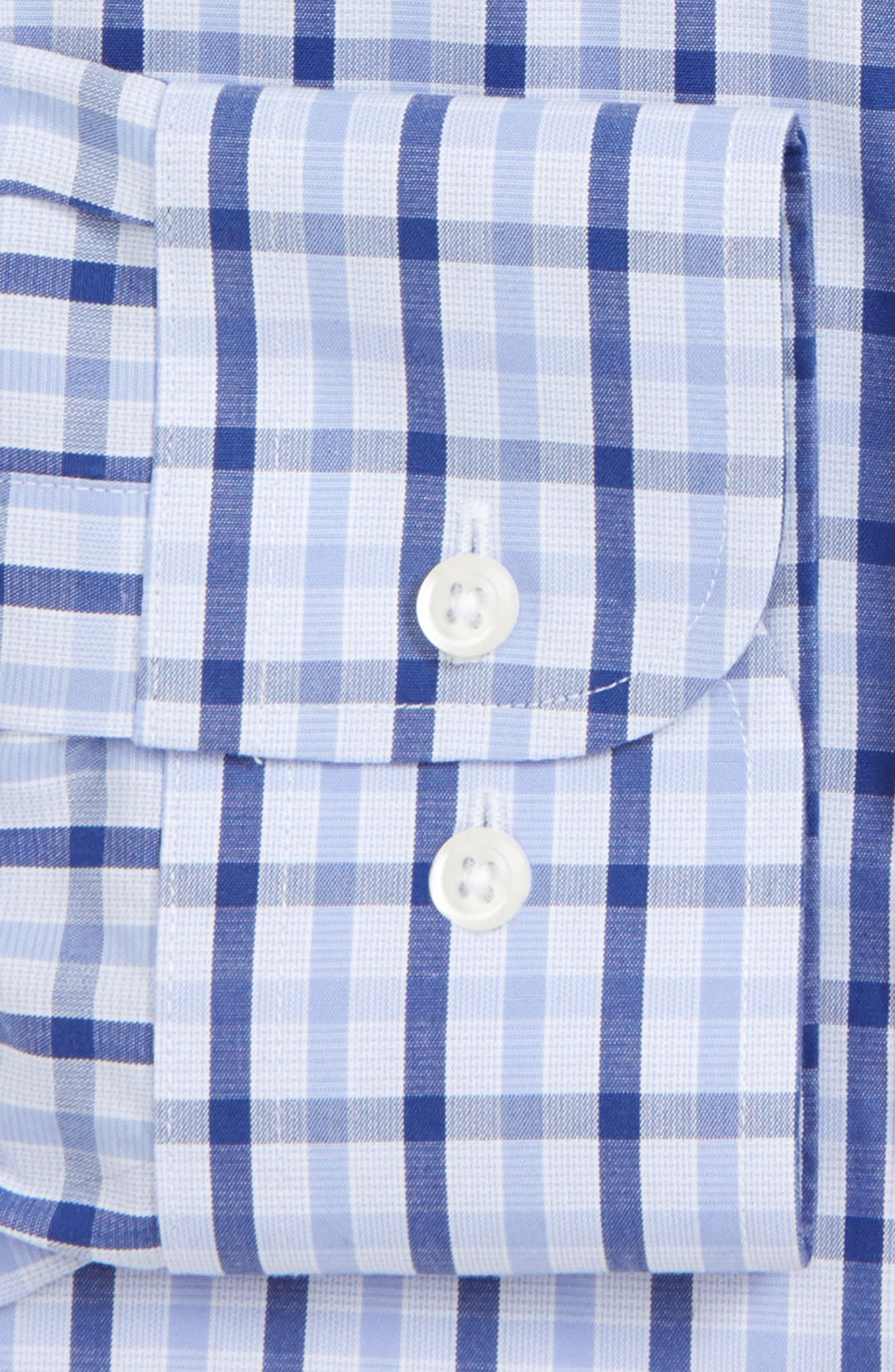 Smartcare<sup>™</sup> Trim Fit Check Dress Shirt,                         Main,                         color, 420