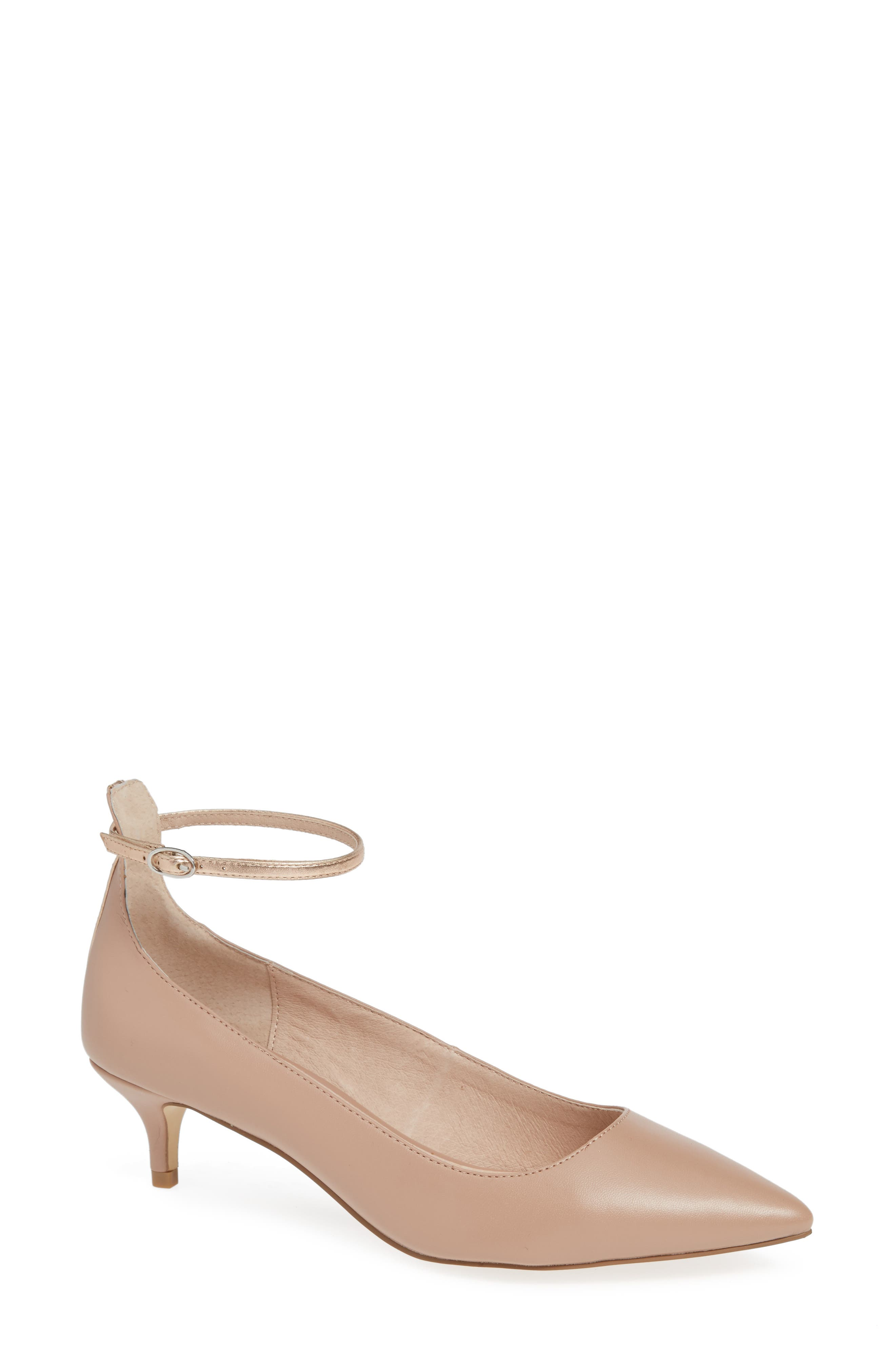 Chinese Laundry Honey Ankle Strap Pump- Beige