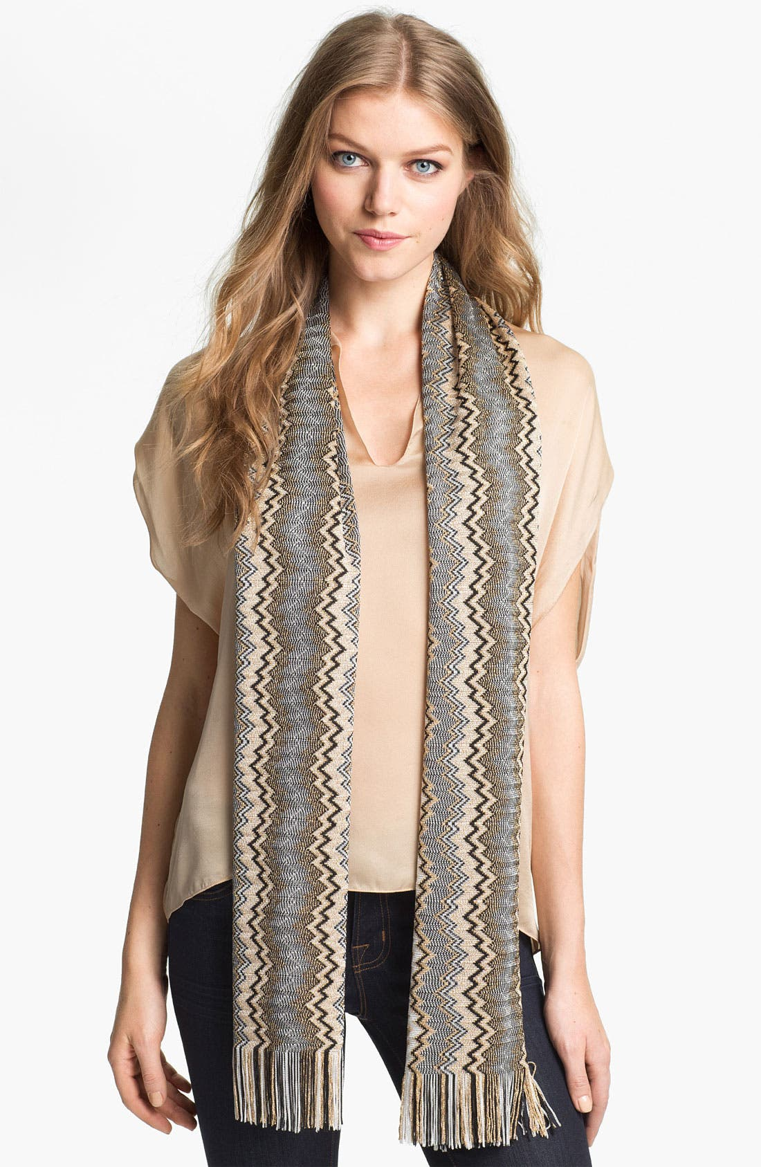 Fringed Scarf,                         Main,                         color, 001
