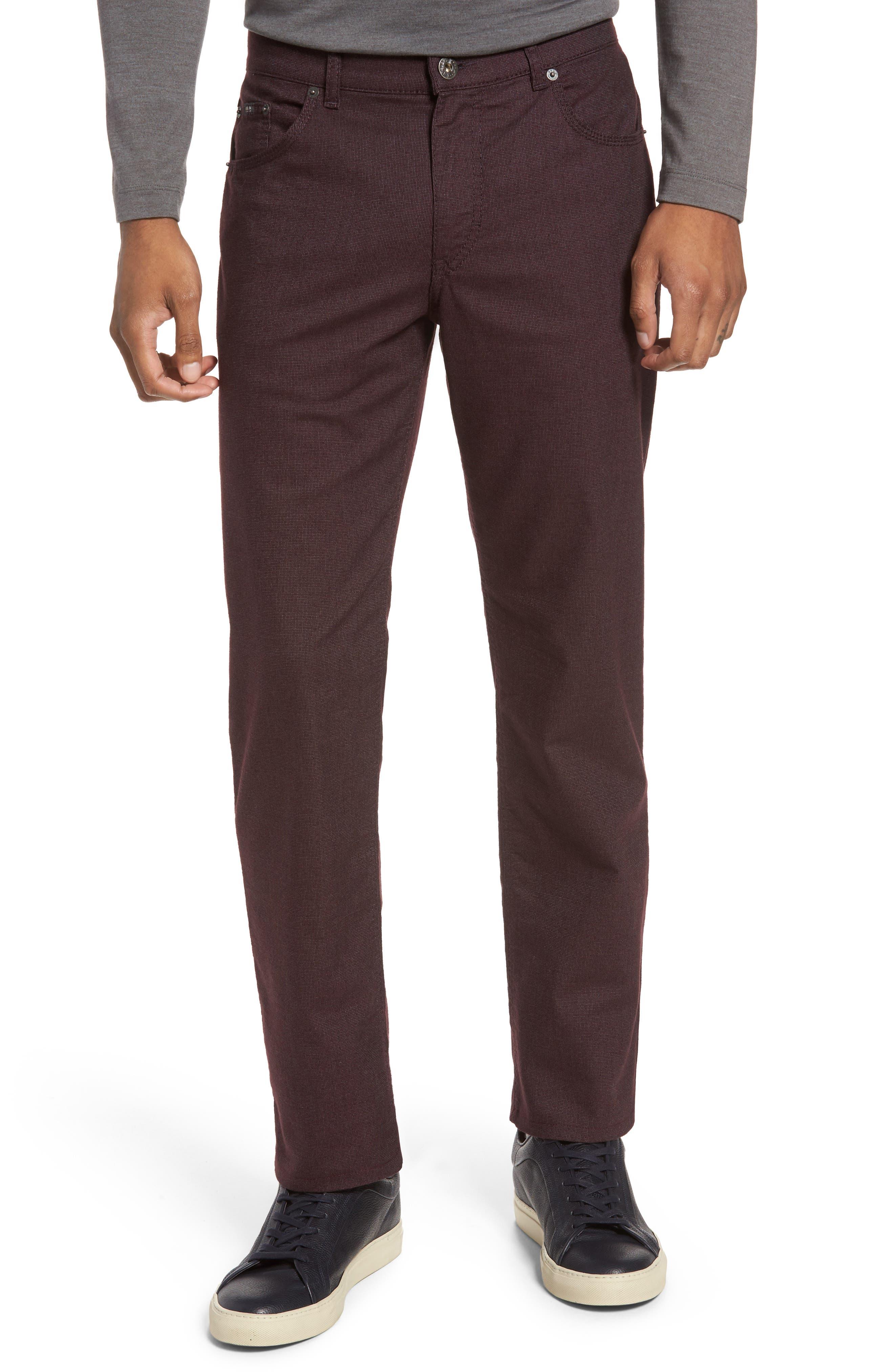 Five-Pocket Stretch Cotton Trousers,                             Main thumbnail 5, color,
