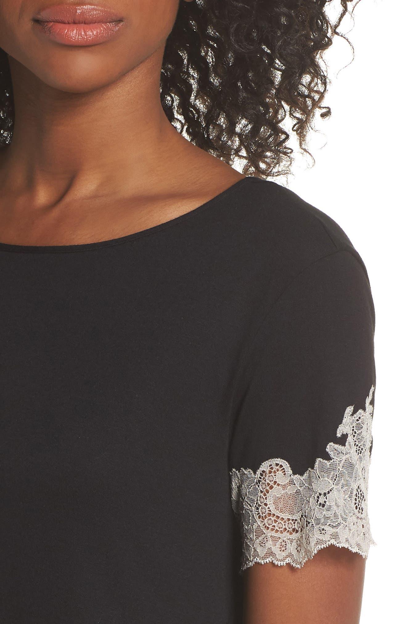 Luxe Shangri-La Pajamas,                             Alternate thumbnail 4, color,                             BLACK/ COCOON