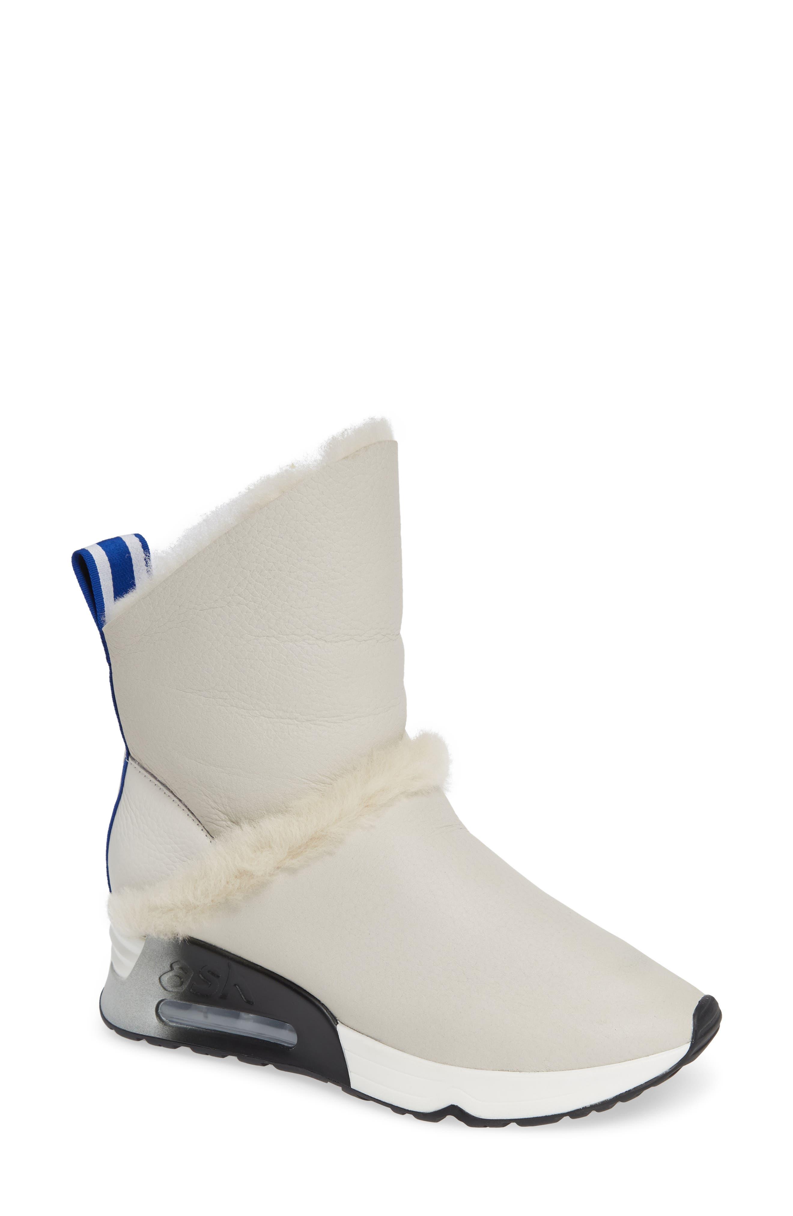 Laika Genuine Shearling Bootie in White/ Tumble Off White