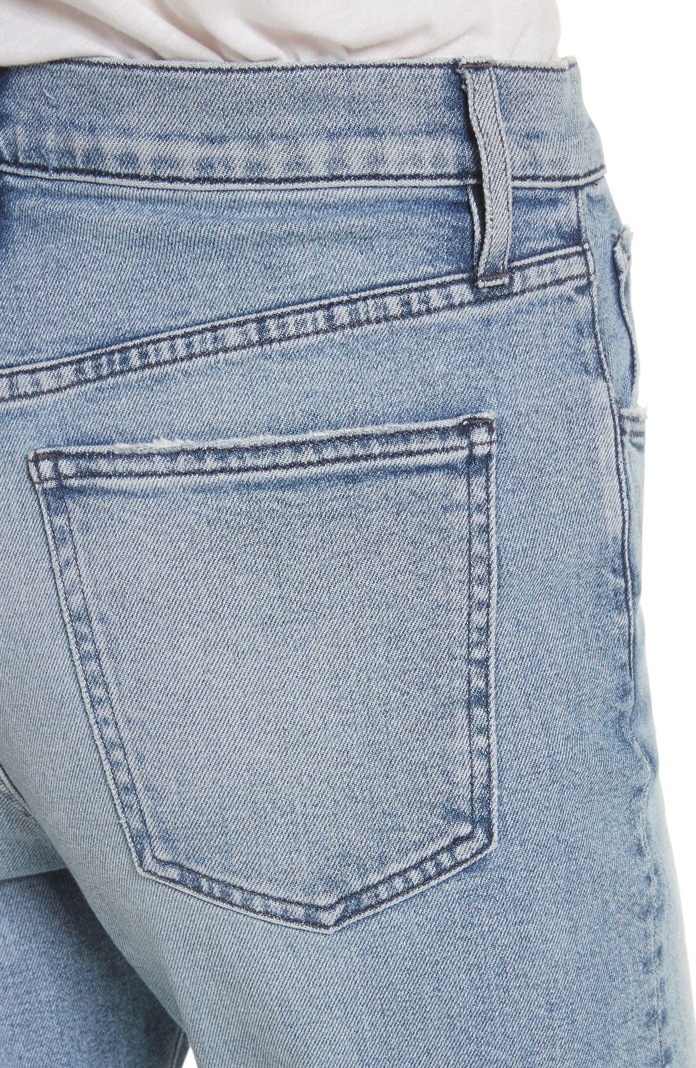 W3 Higher Ground Side Split Ankle Straight Leg Jeans,                             Alternate thumbnail 4, color,                             428