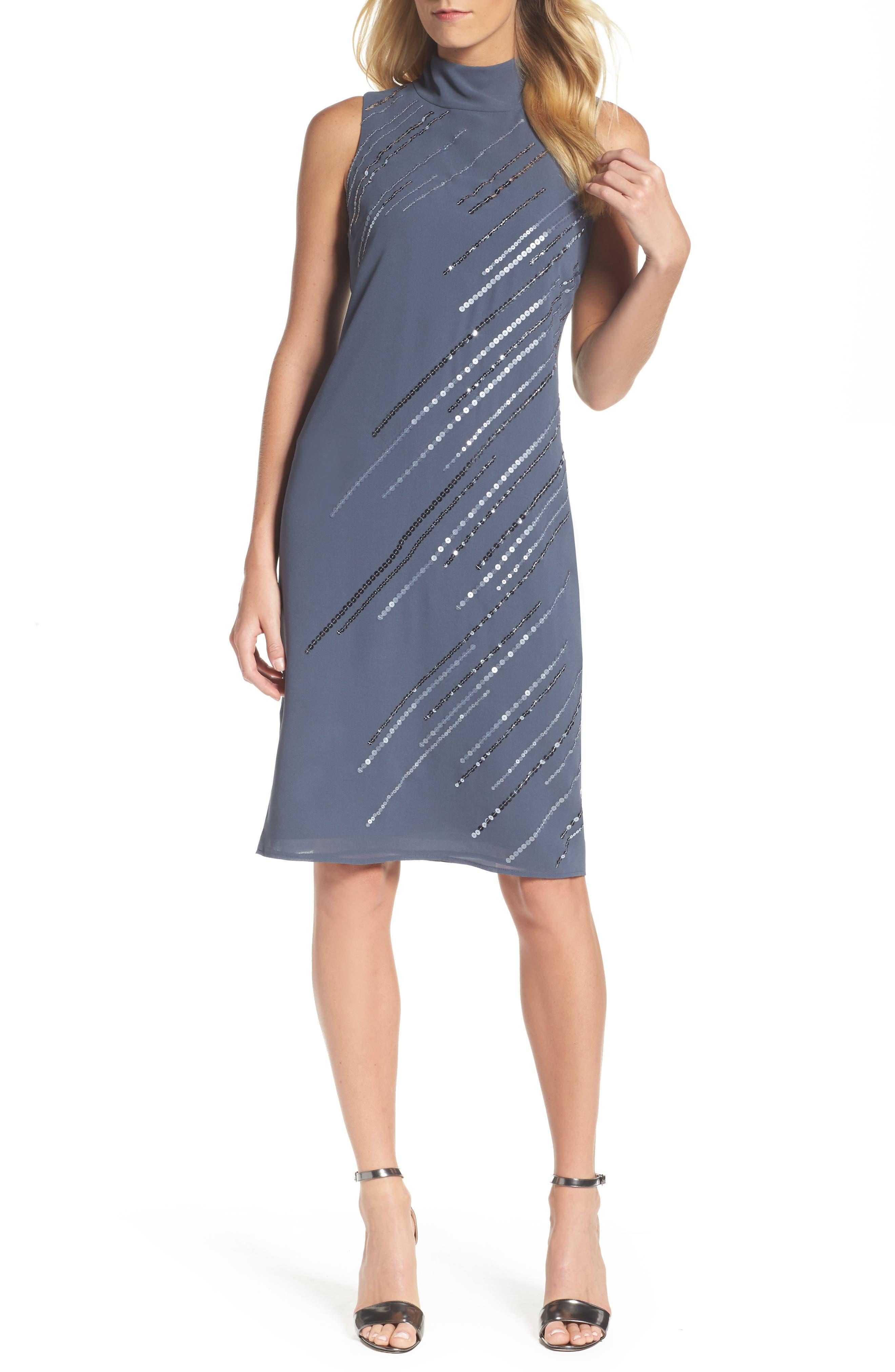 Sequin A-Line Dress,                         Main,                         color, 451