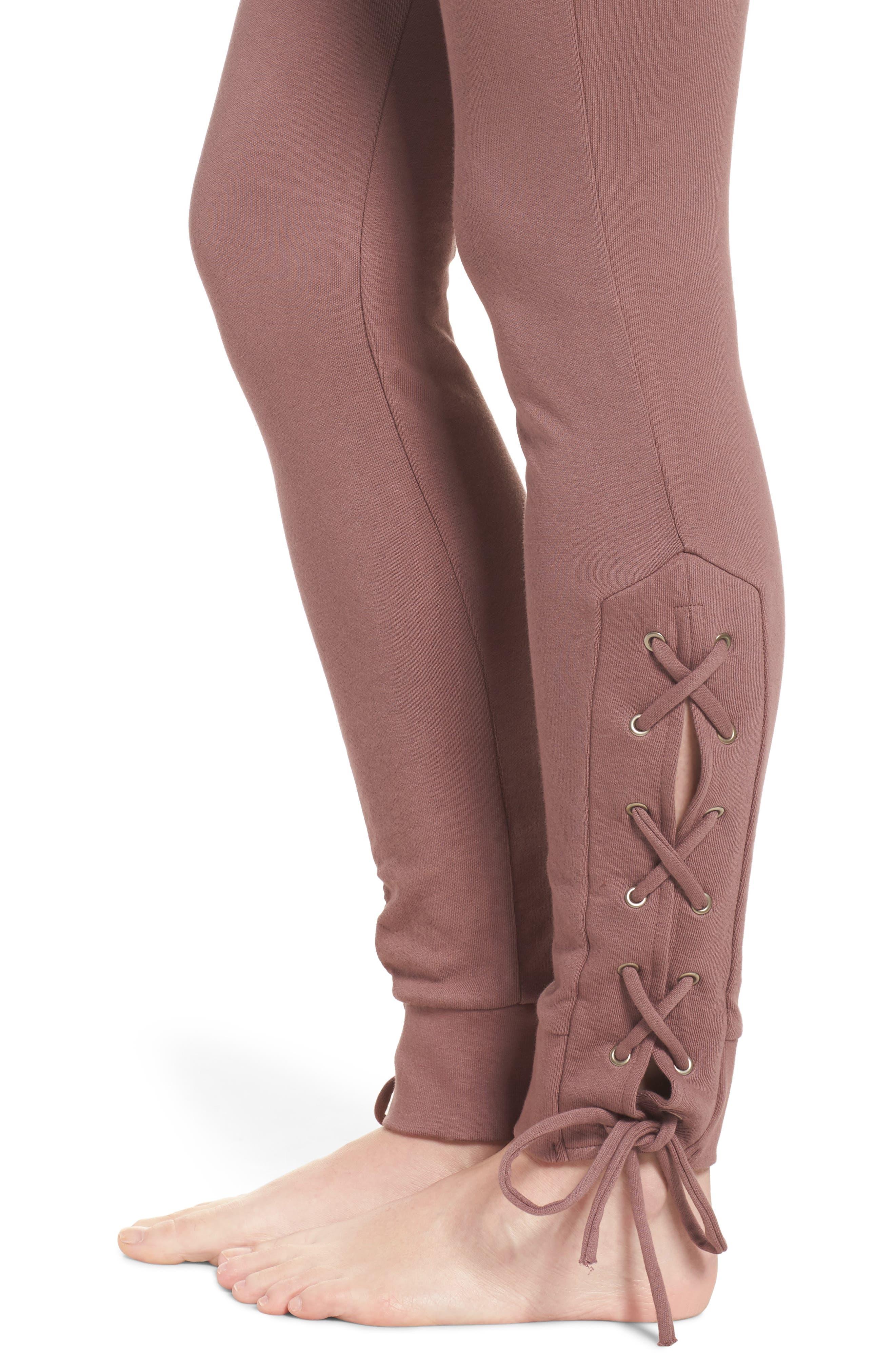 Lace Up Lounge Pants,                             Alternate thumbnail 8, color,