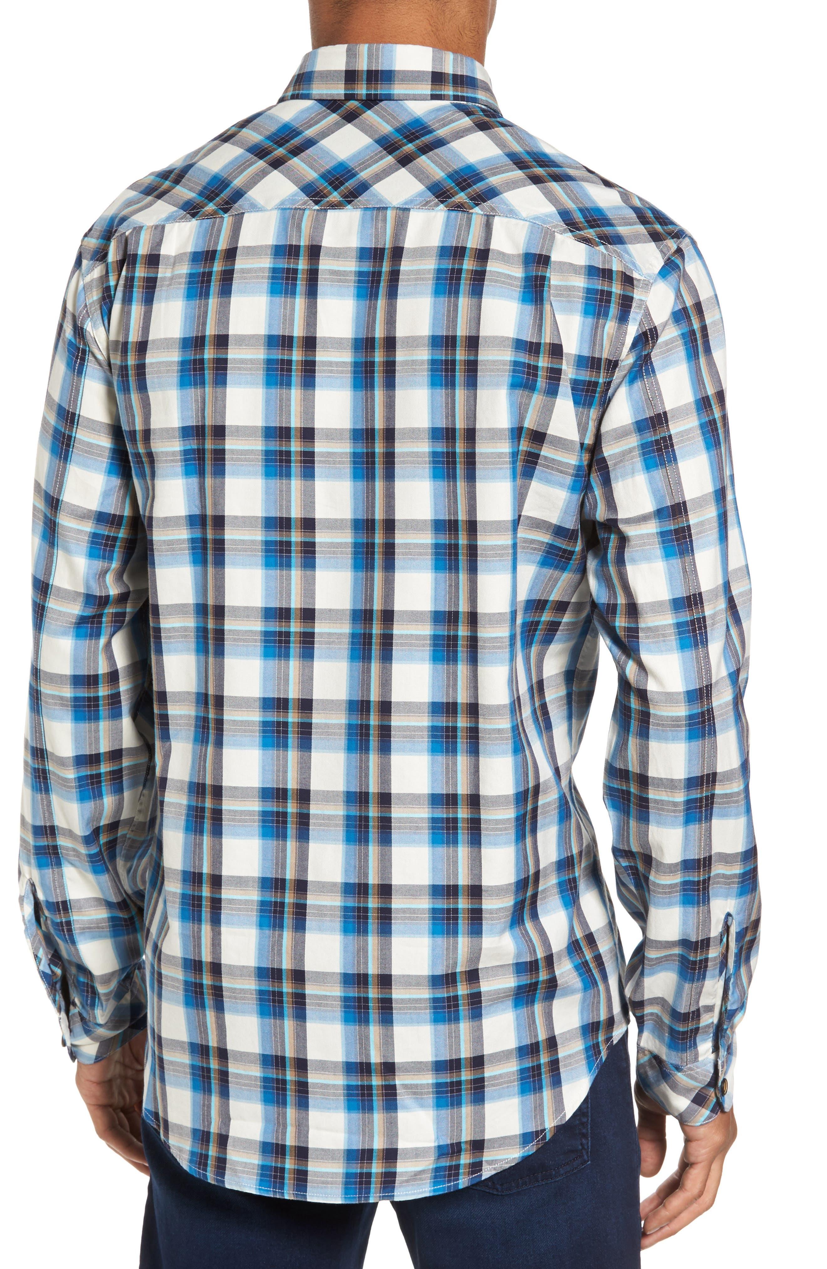 Seacliff Plaid Flannel Shirt,                             Alternate thumbnail 2, color,                             439