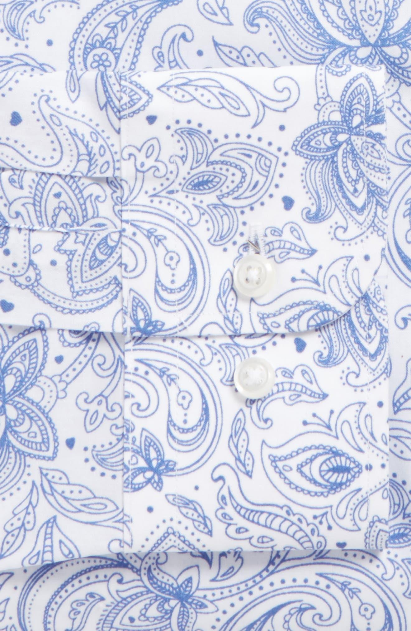 Trim Fit Paisley Dress Shirt,                             Alternate thumbnail 2, color,                             420