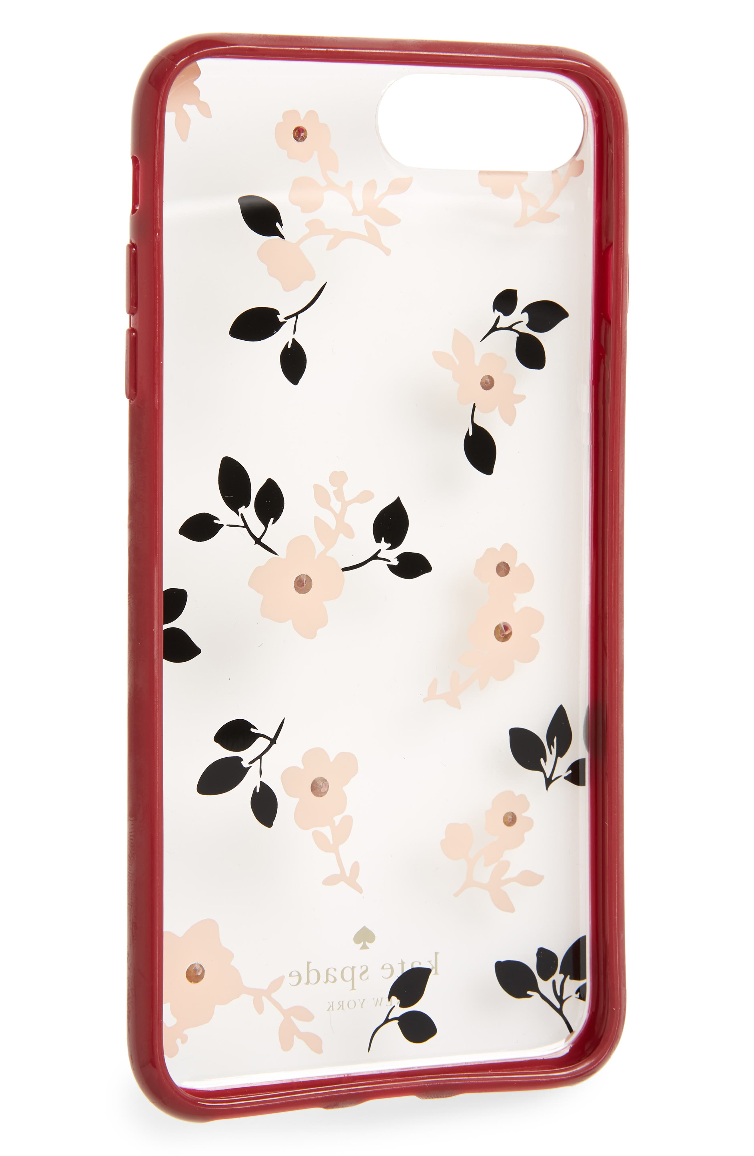 KATE SPADE NEW YORK,                             jeweled camellia iPhone 7/8 & 7/8 Plus case,                             Alternate thumbnail 2, color,                             650