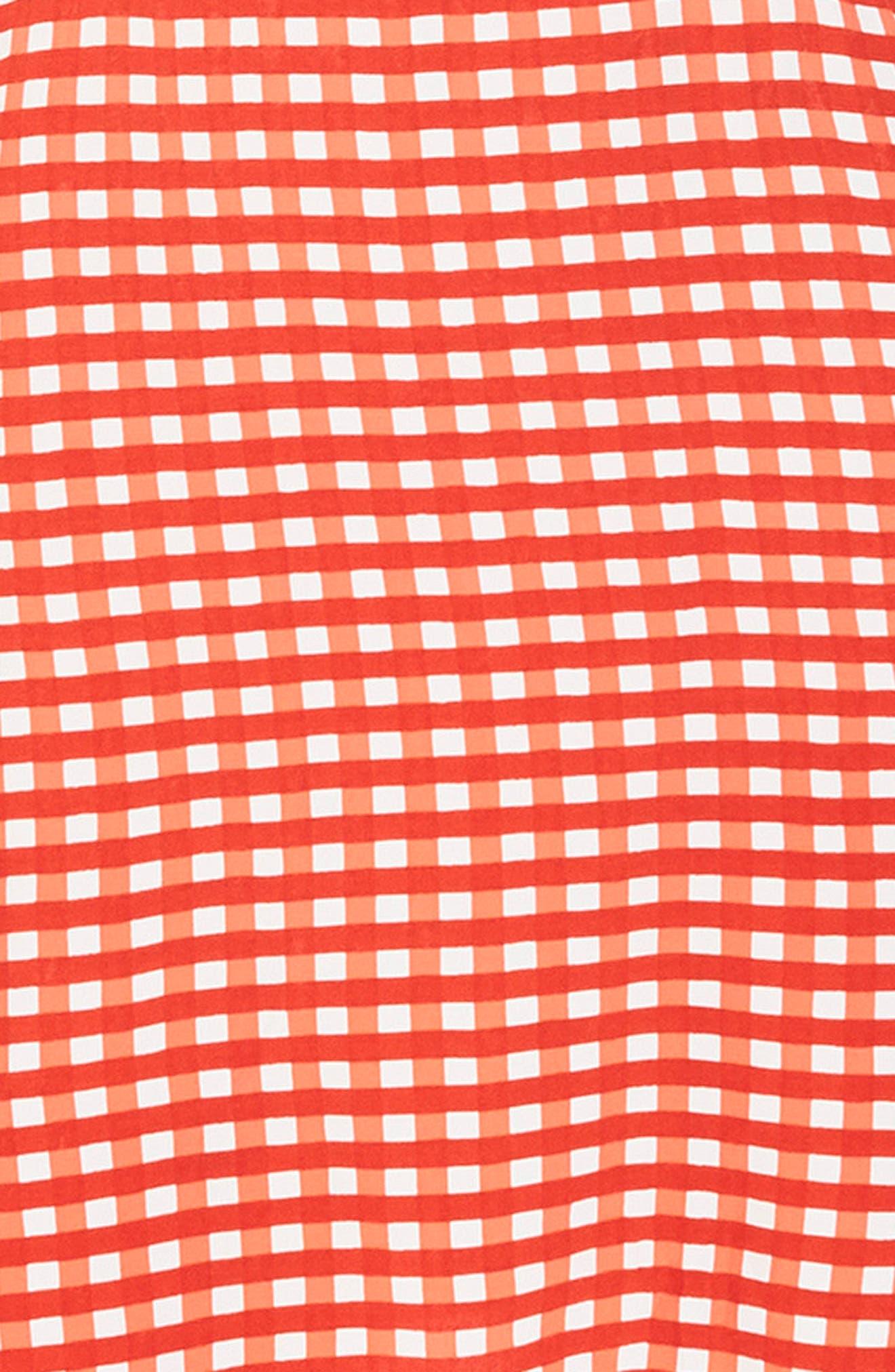 Ischia Gingham Tie Back Dress,                             Alternate thumbnail 3, color,                             KIVOTOS PRINT