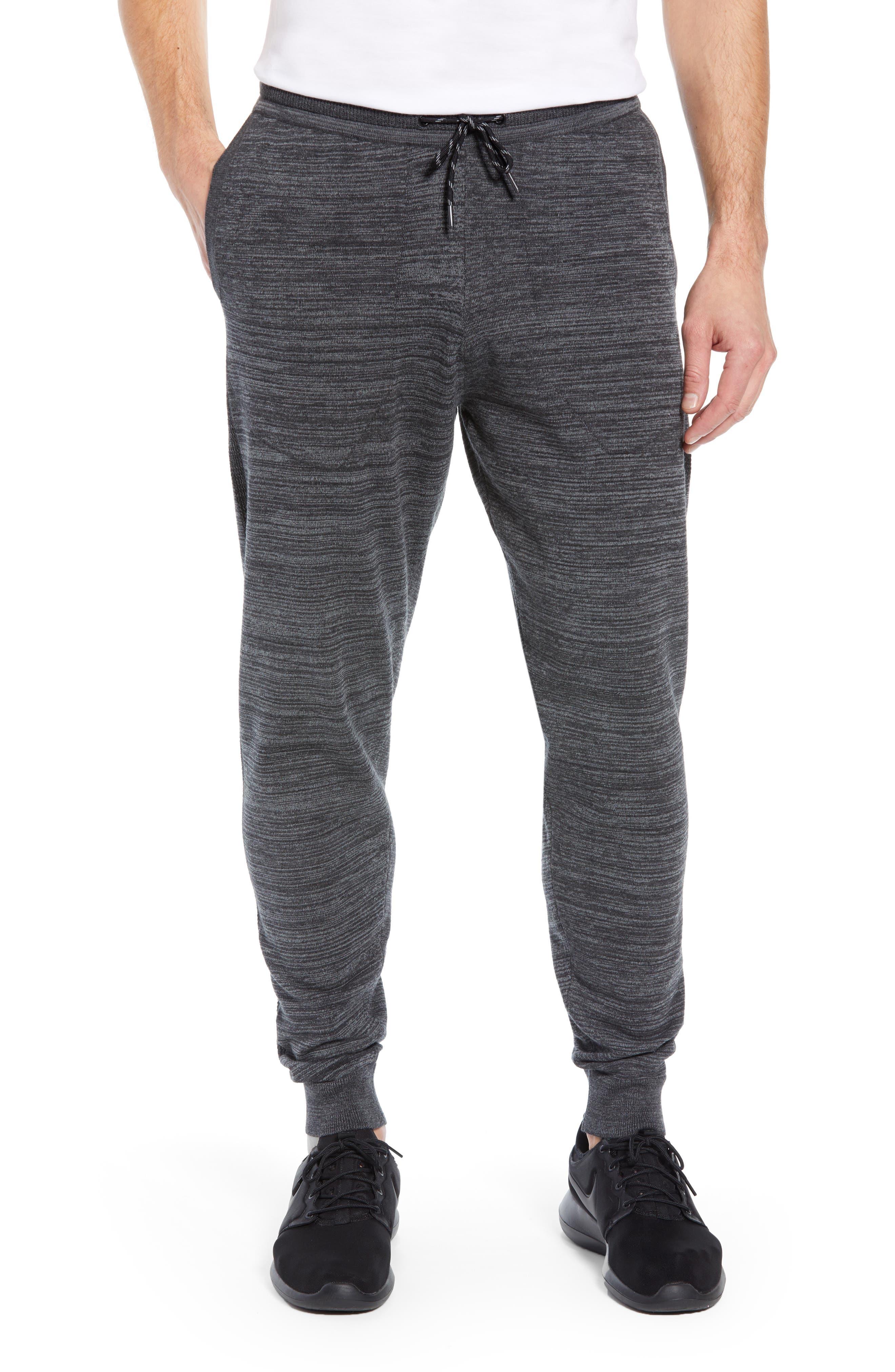 Tech Sweater Knit Jogger Pants,                             Main thumbnail 1, color,                             BLACK OXIDE SPACEDYE
