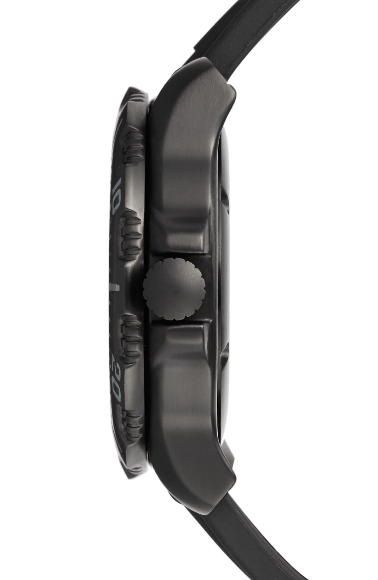 'Sea - ANU' Polyurethane Strap Watch, 45mm,                             Alternate thumbnail 5, color,                             001