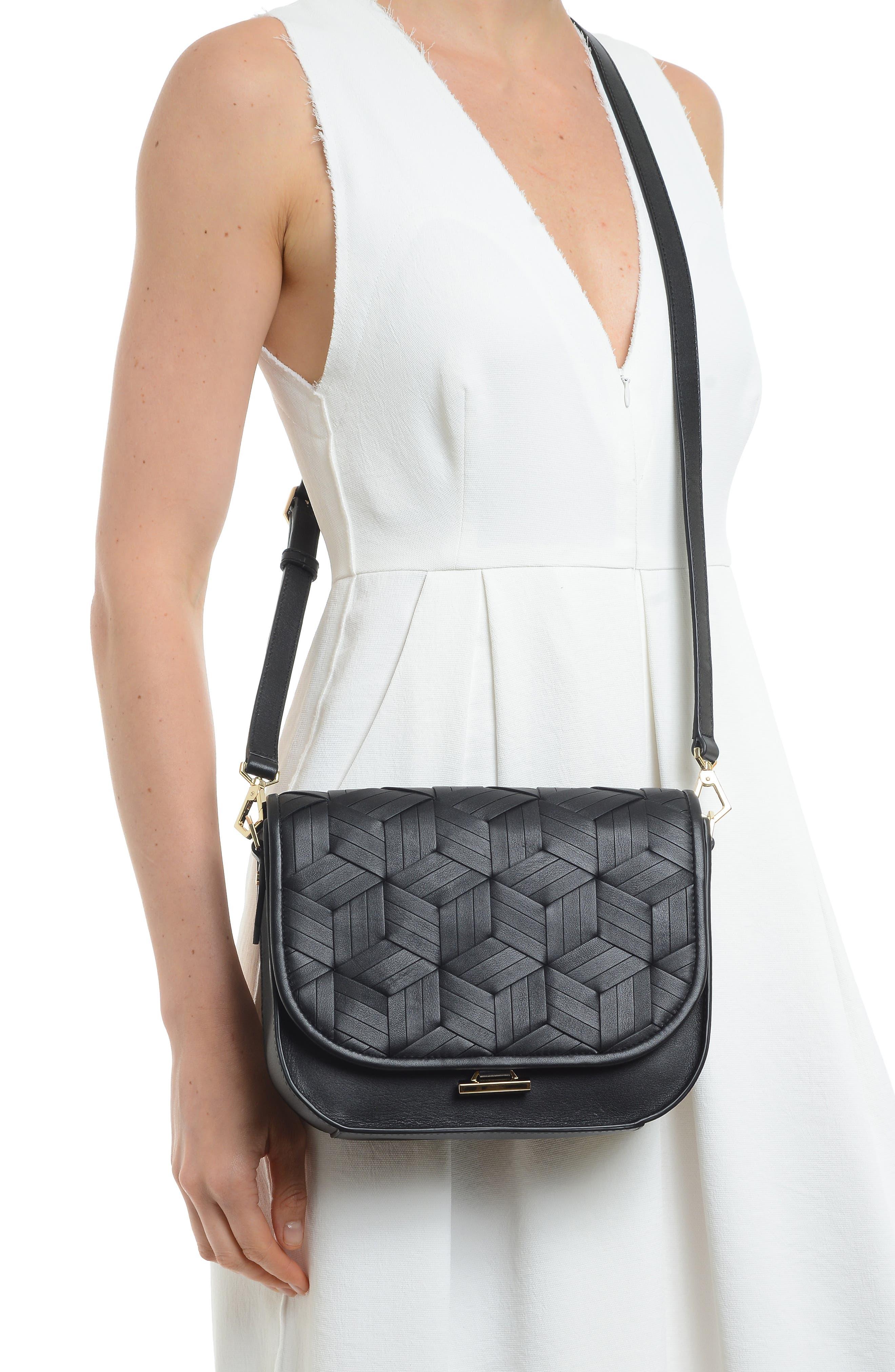 Summit Leather Crossbody Bag,                             Alternate thumbnail 2, color,                             BLACK
