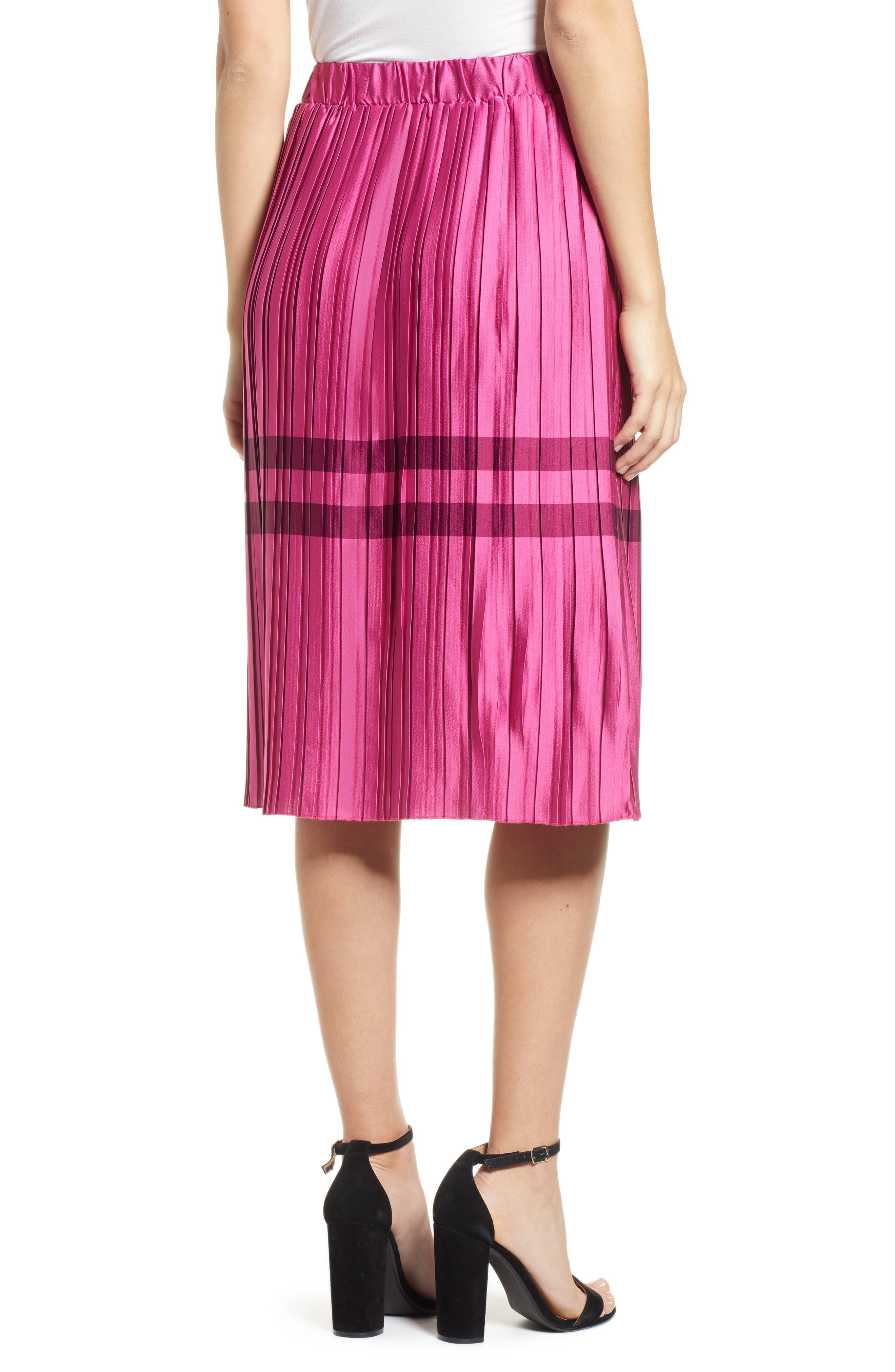 Niti Pleated Skirt,                             Alternate thumbnail 2, color,                             FESTIVAL FUCHSIA