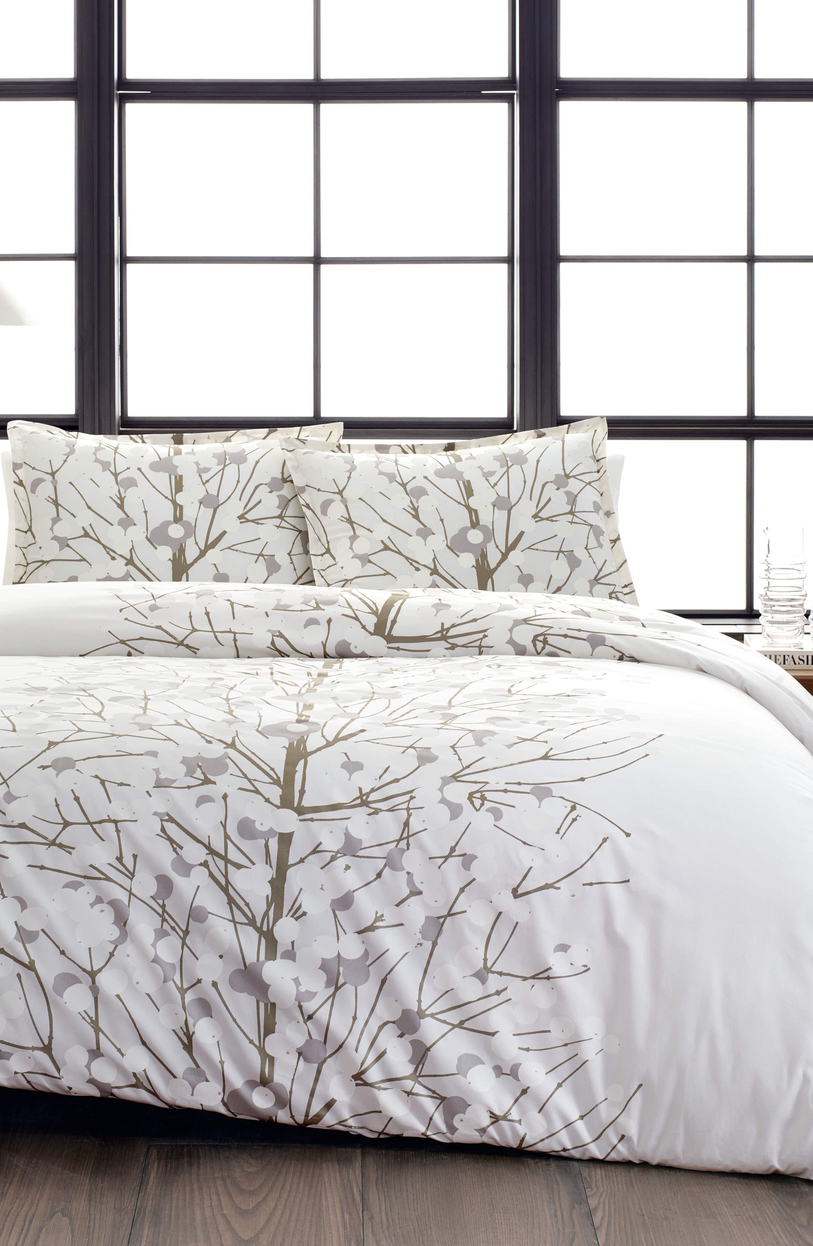Lumimarja Silver Comforter & Sham Set,                             Main thumbnail 1, color,                             MEDIUM GREY