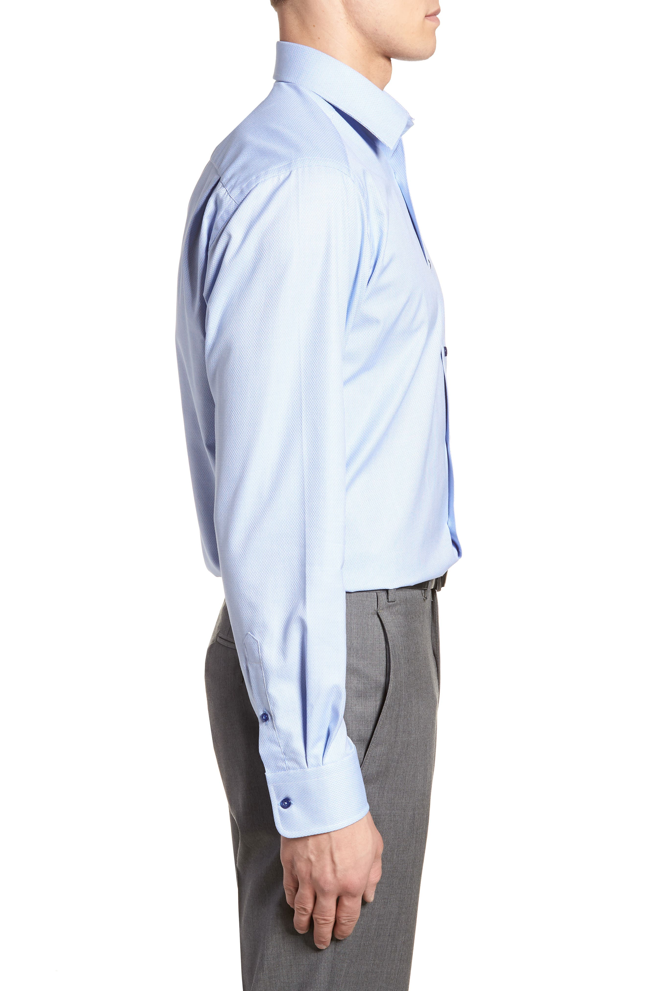 Slim Fit Solid Dress Shirt,                             Alternate thumbnail 4, color,                             423