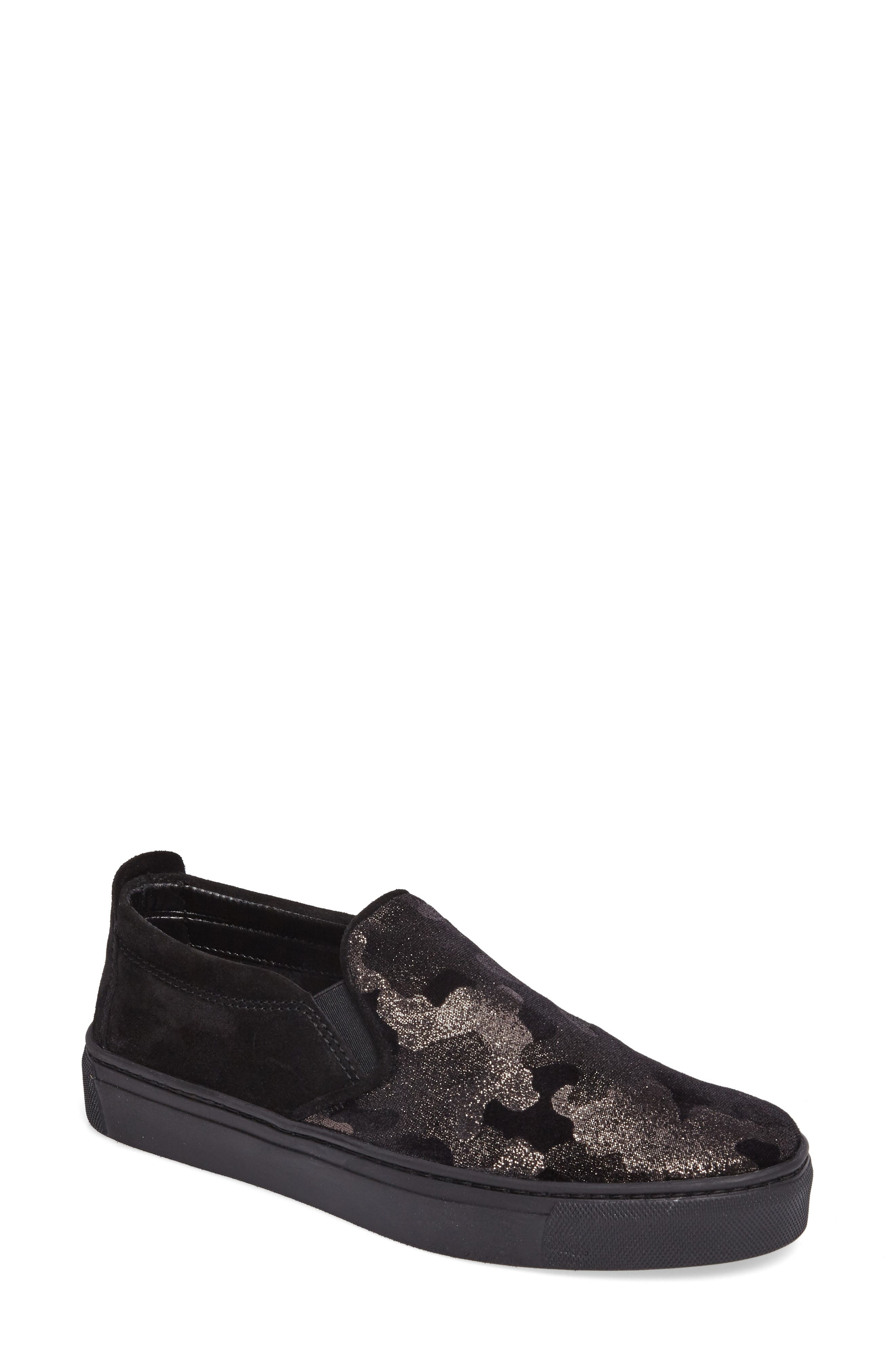 Full Time Sneaker,                         Main,                         color, BLACK SUEDE