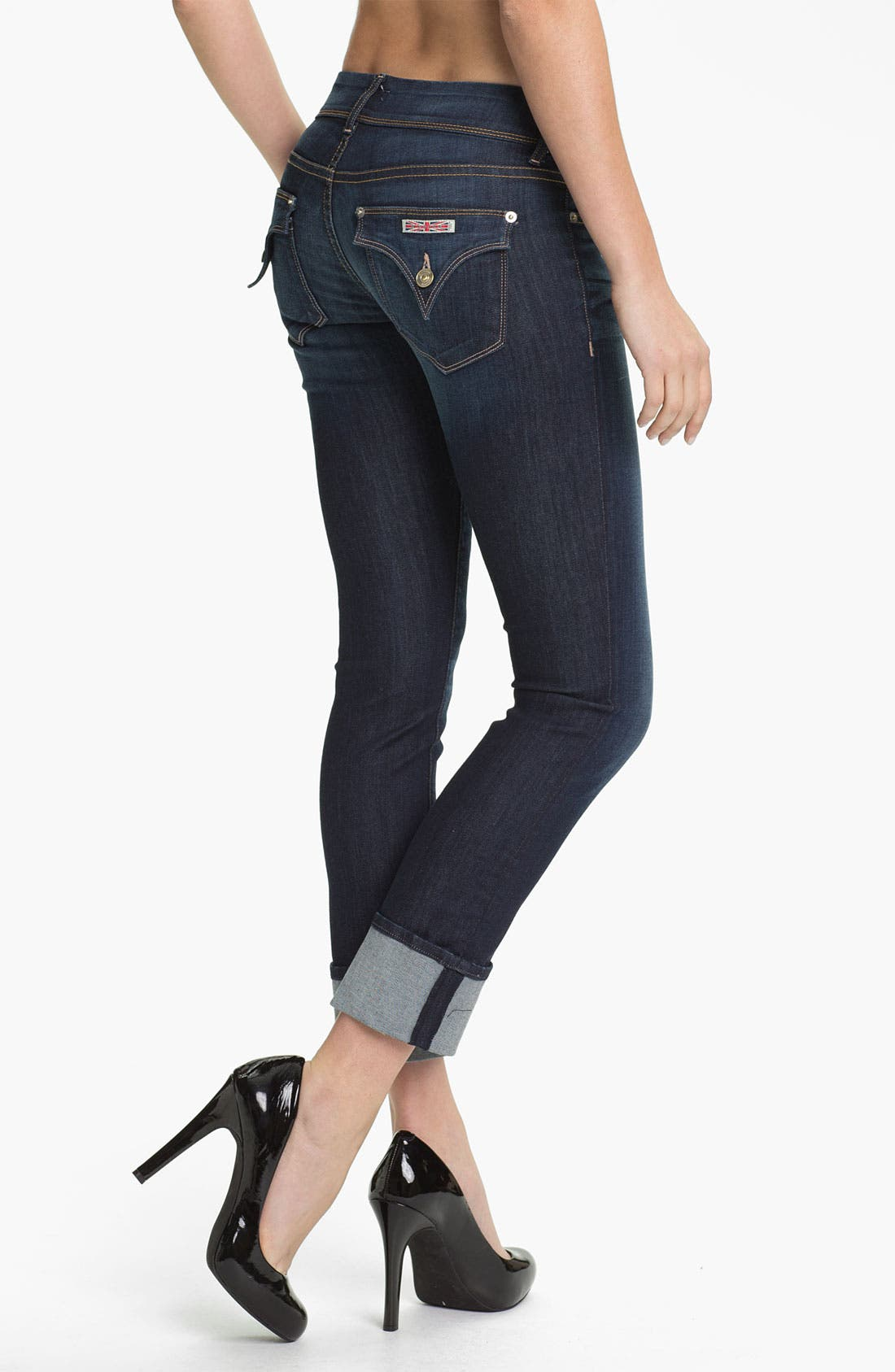 'Ginny' Crop Stretch Jeans,                             Alternate thumbnail 2, color,                             423
