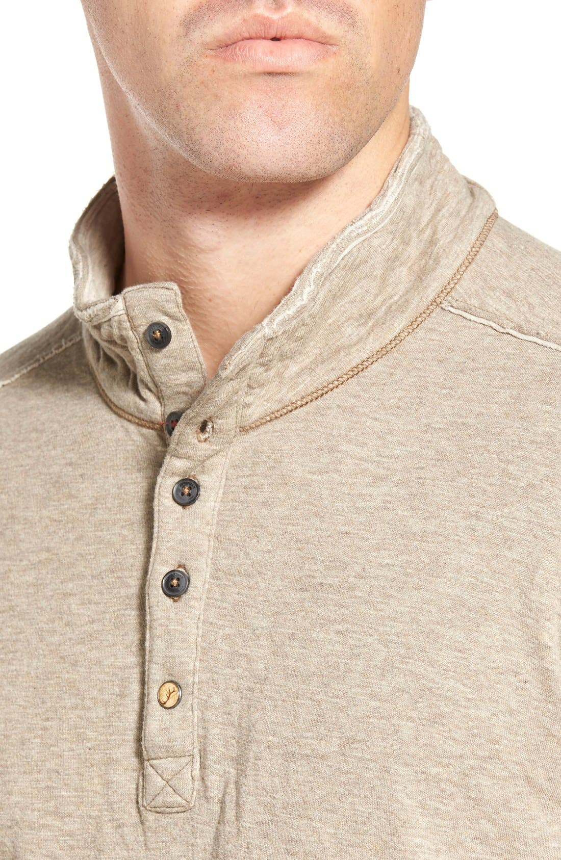 'Mitch' Double Faced Mock Collar Shirt,                             Alternate thumbnail 12, color,