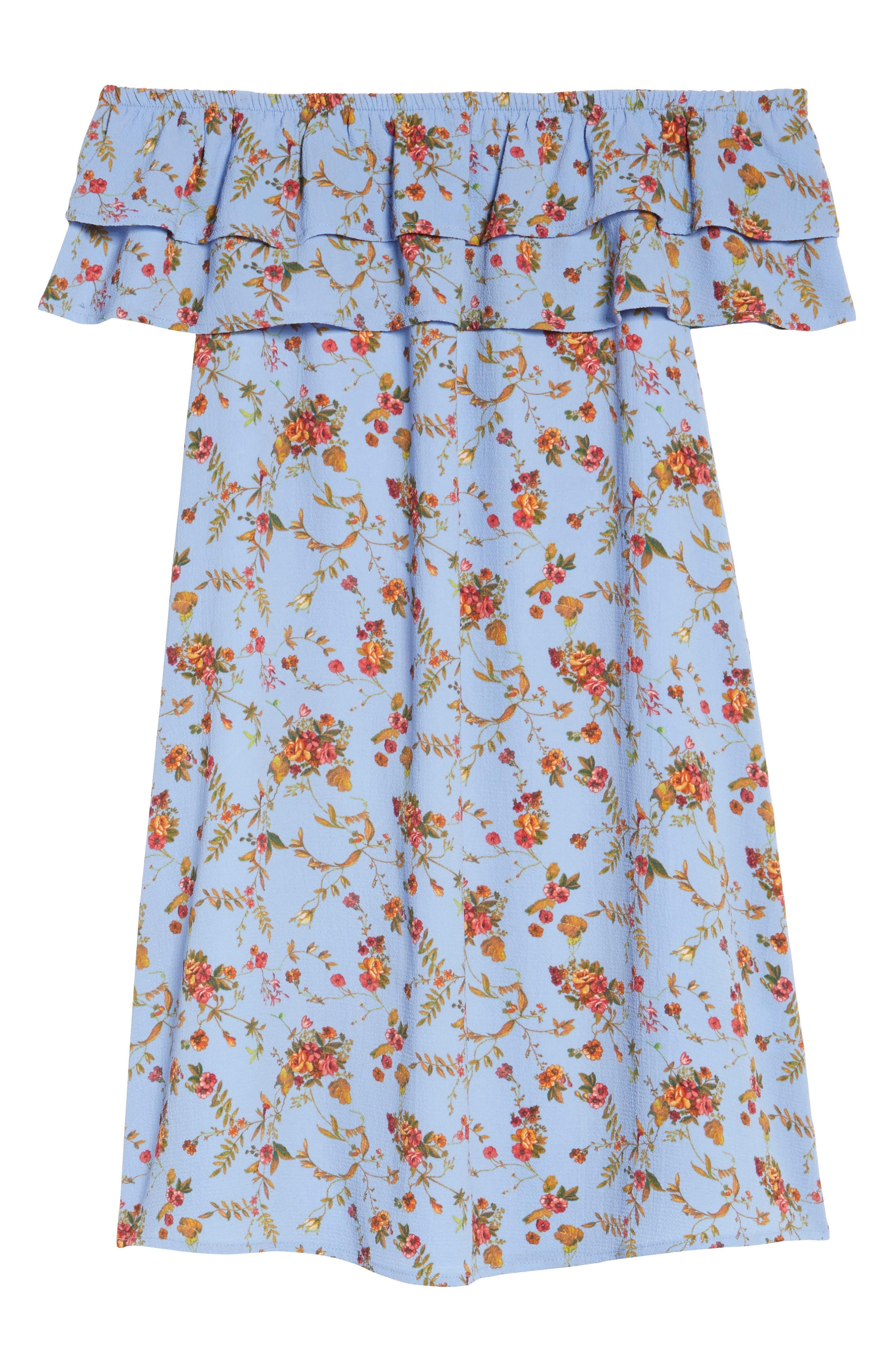 Off the Shoulder Ruffle Dress,                             Alternate thumbnail 44, color,