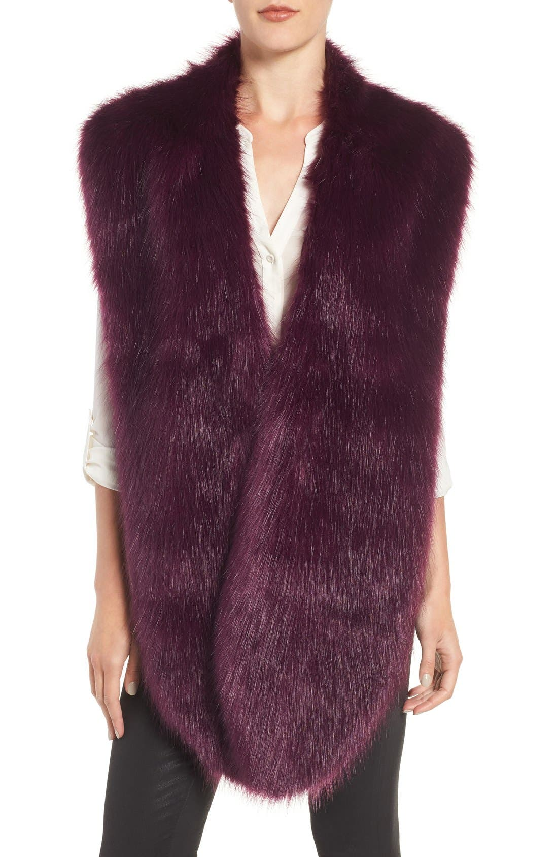Faux Mink Stole,                             Main thumbnail 5, color,