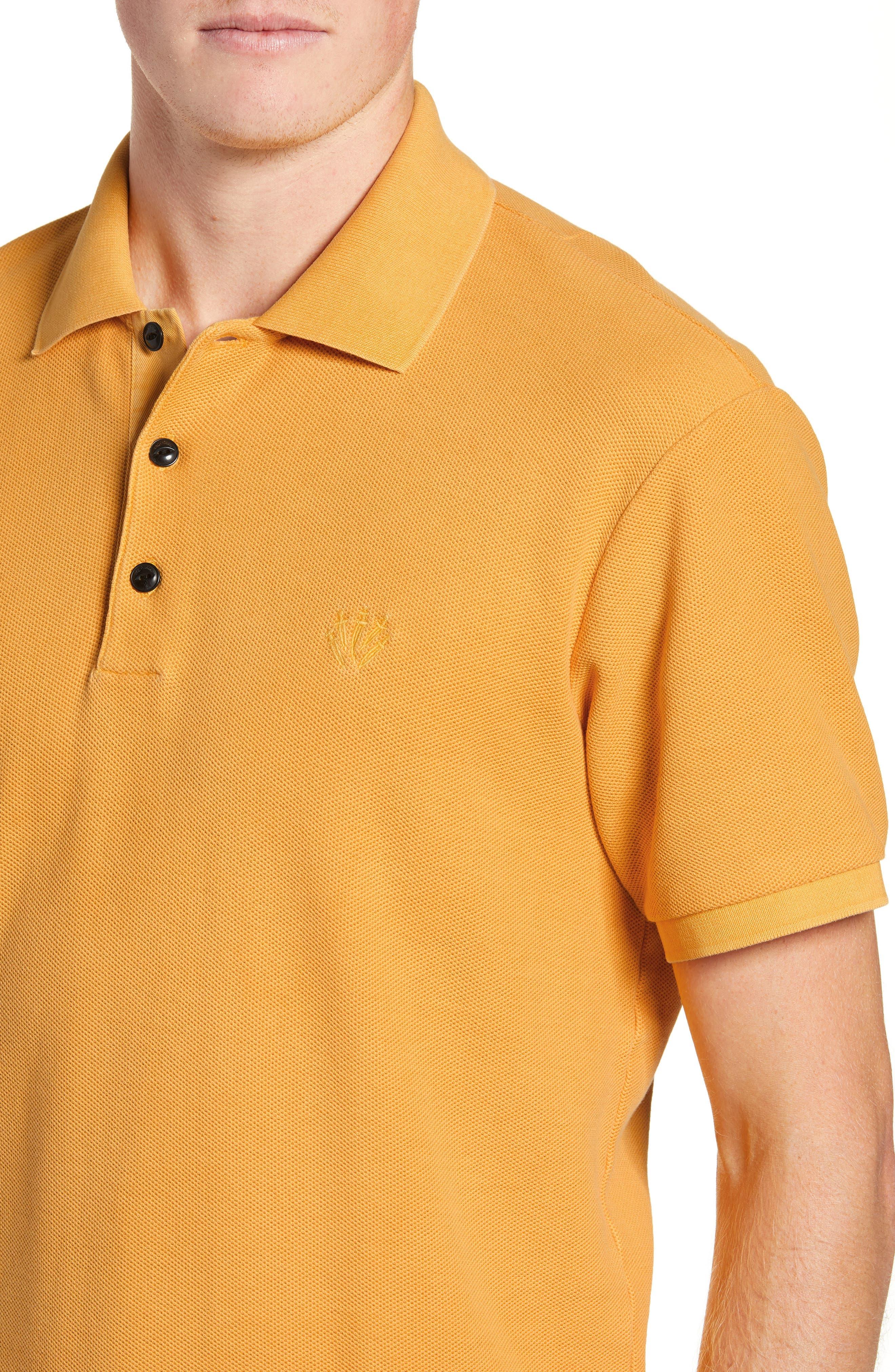 Solid Piqué Polo,                             Alternate thumbnail 4, color,                             GOLD