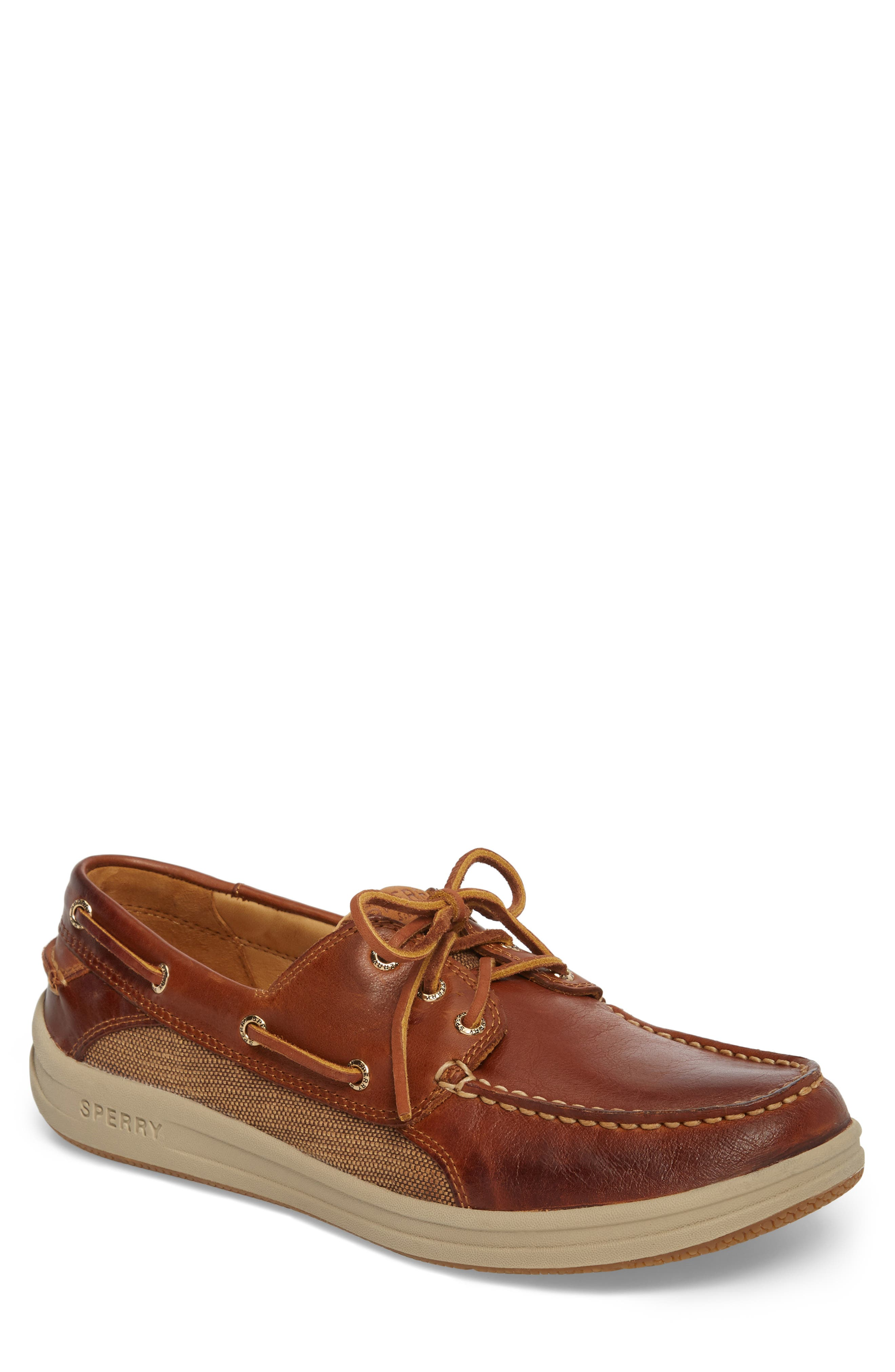 Gold Cup Gamefish Boat Shoe,                         Main,                         color, BROWN LEATHER