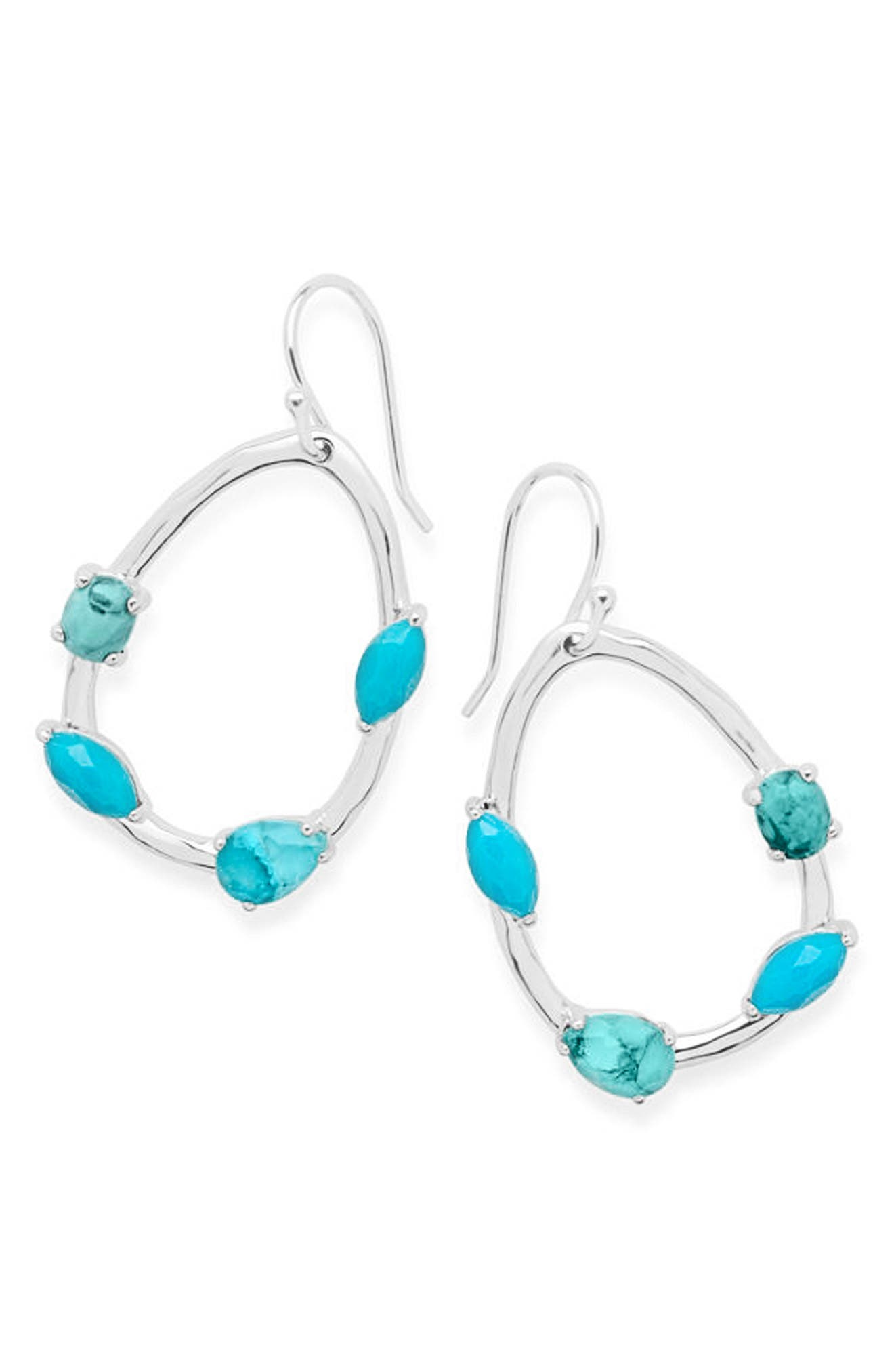 Rock Candy Small Drop Earrings,                             Main thumbnail 1, color,                             TURQUOISE