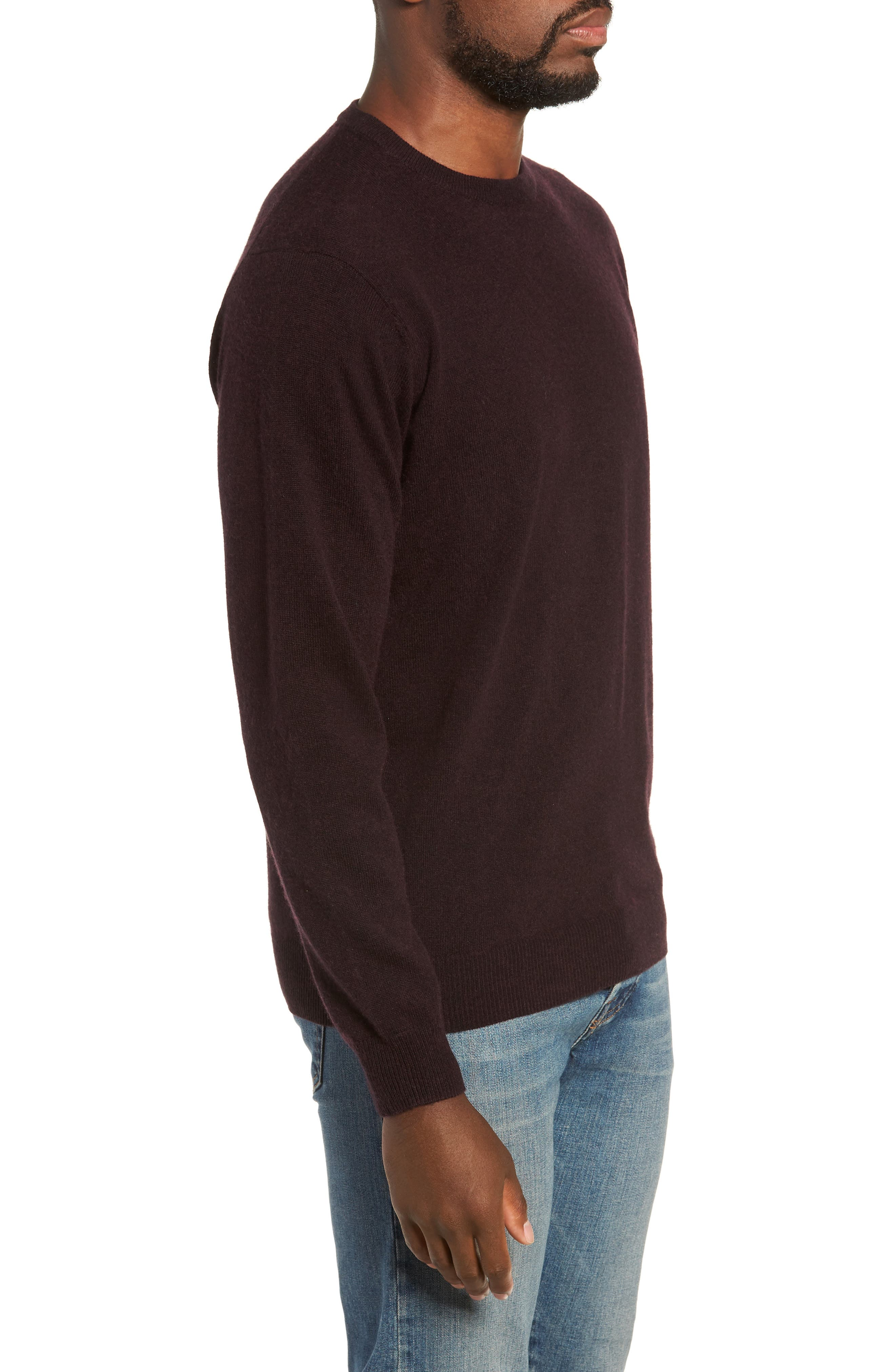 Queenstown Wool & Cashmere Sweater,                             Alternate thumbnail 3, color,                             BLACK FIG