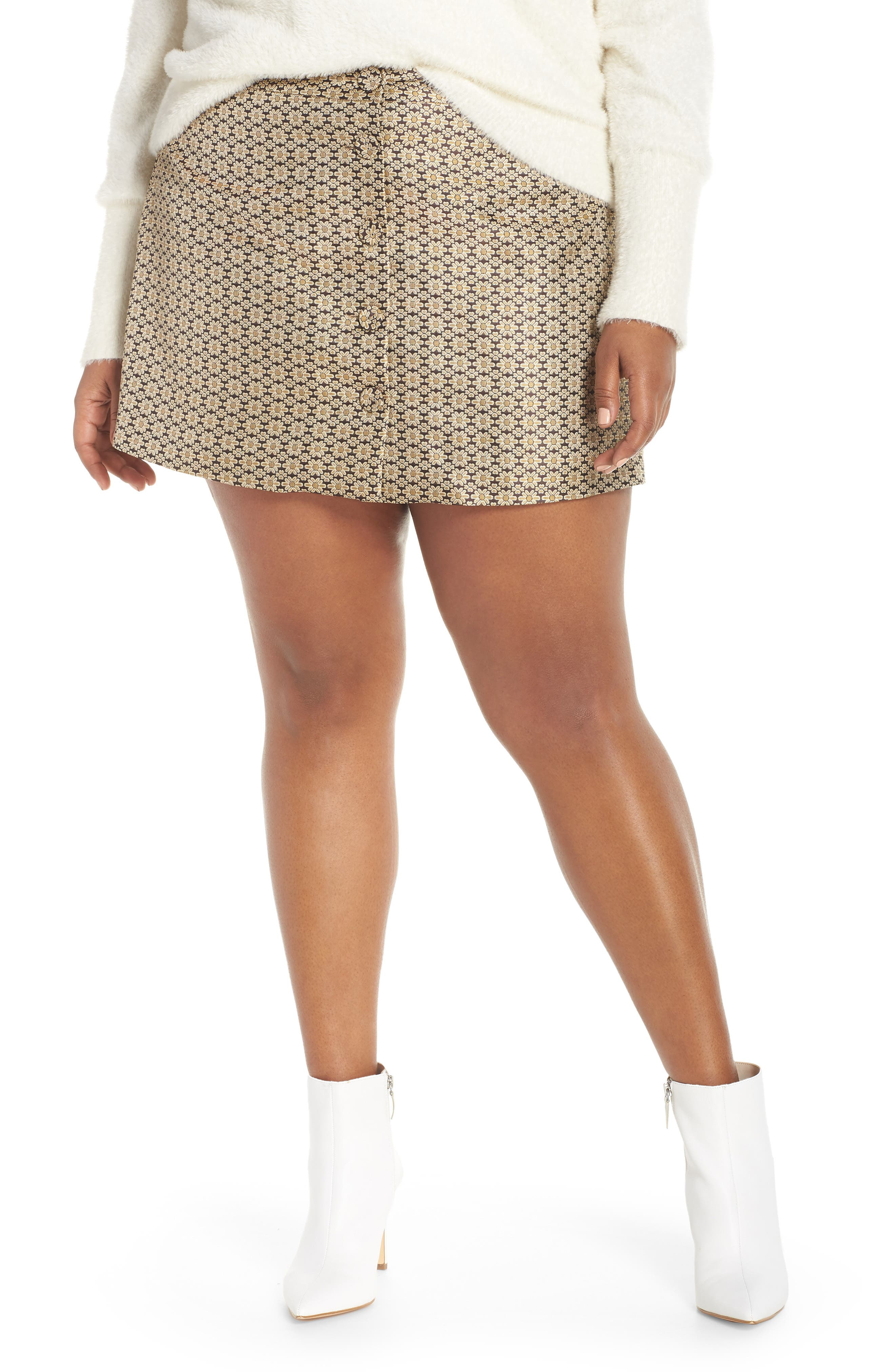 Pelham Button Front Miniskirt,                             Alternate thumbnail 2, color,                             710