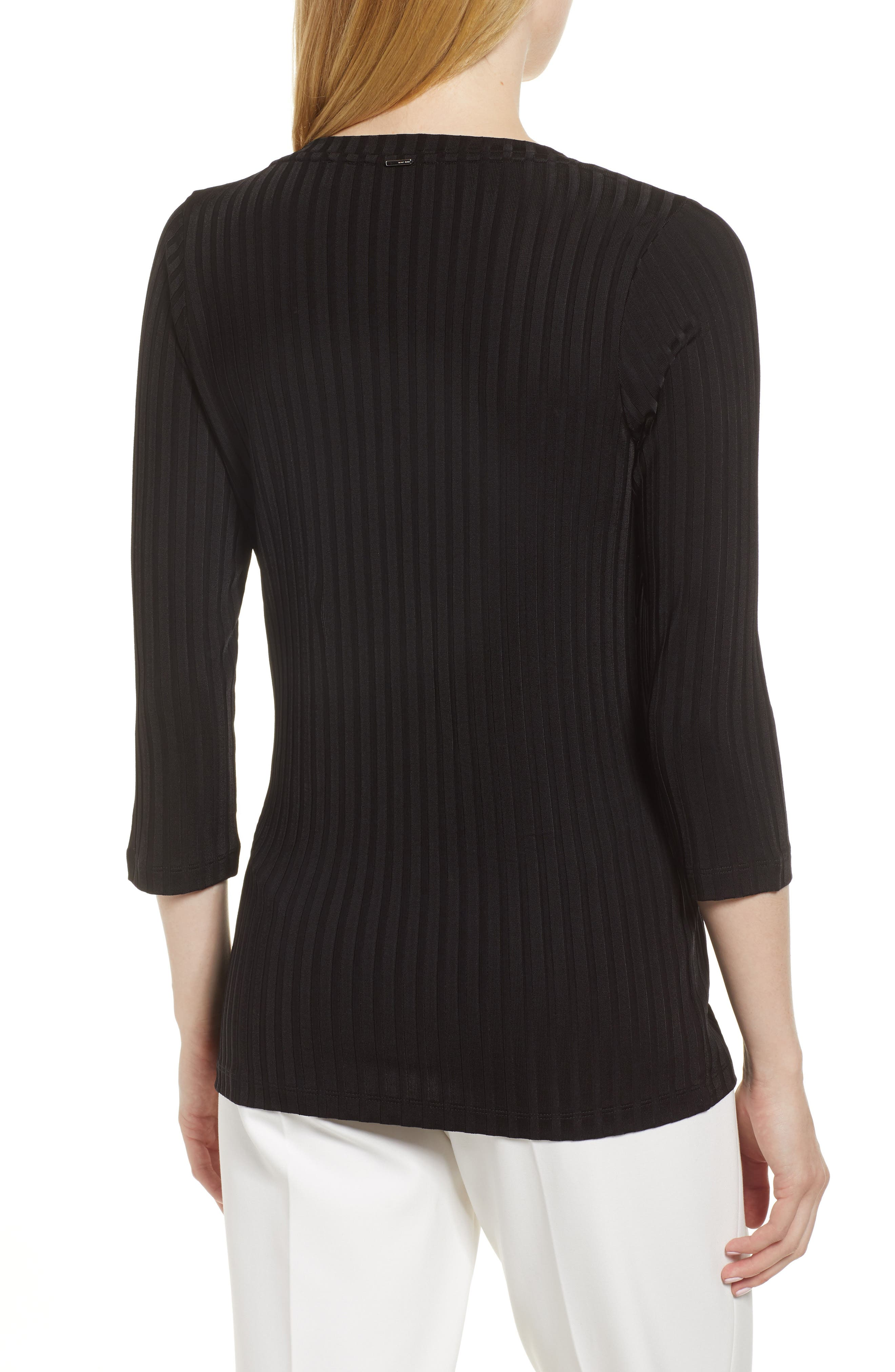 Etrica Ribbed Sweater,                             Alternate thumbnail 2, color,                             001