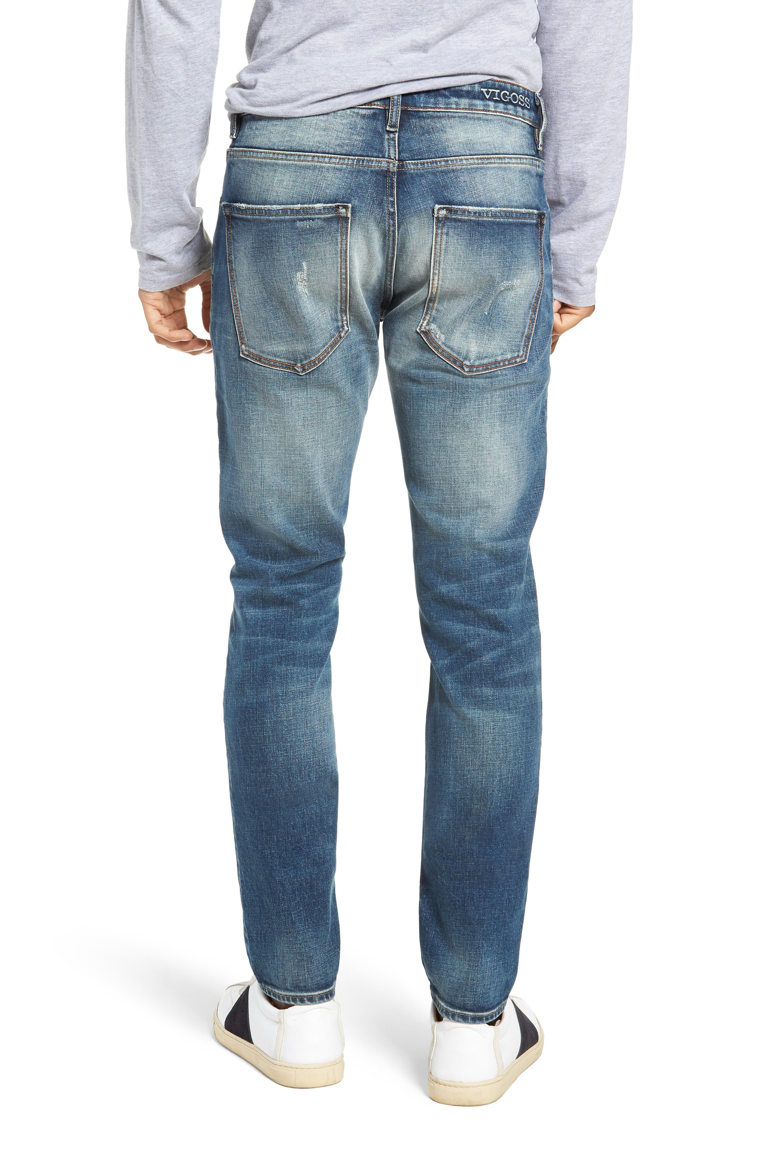 Mick Slim Fit Jeans,                             Alternate thumbnail 2, color,                             VINTAGE WASH
